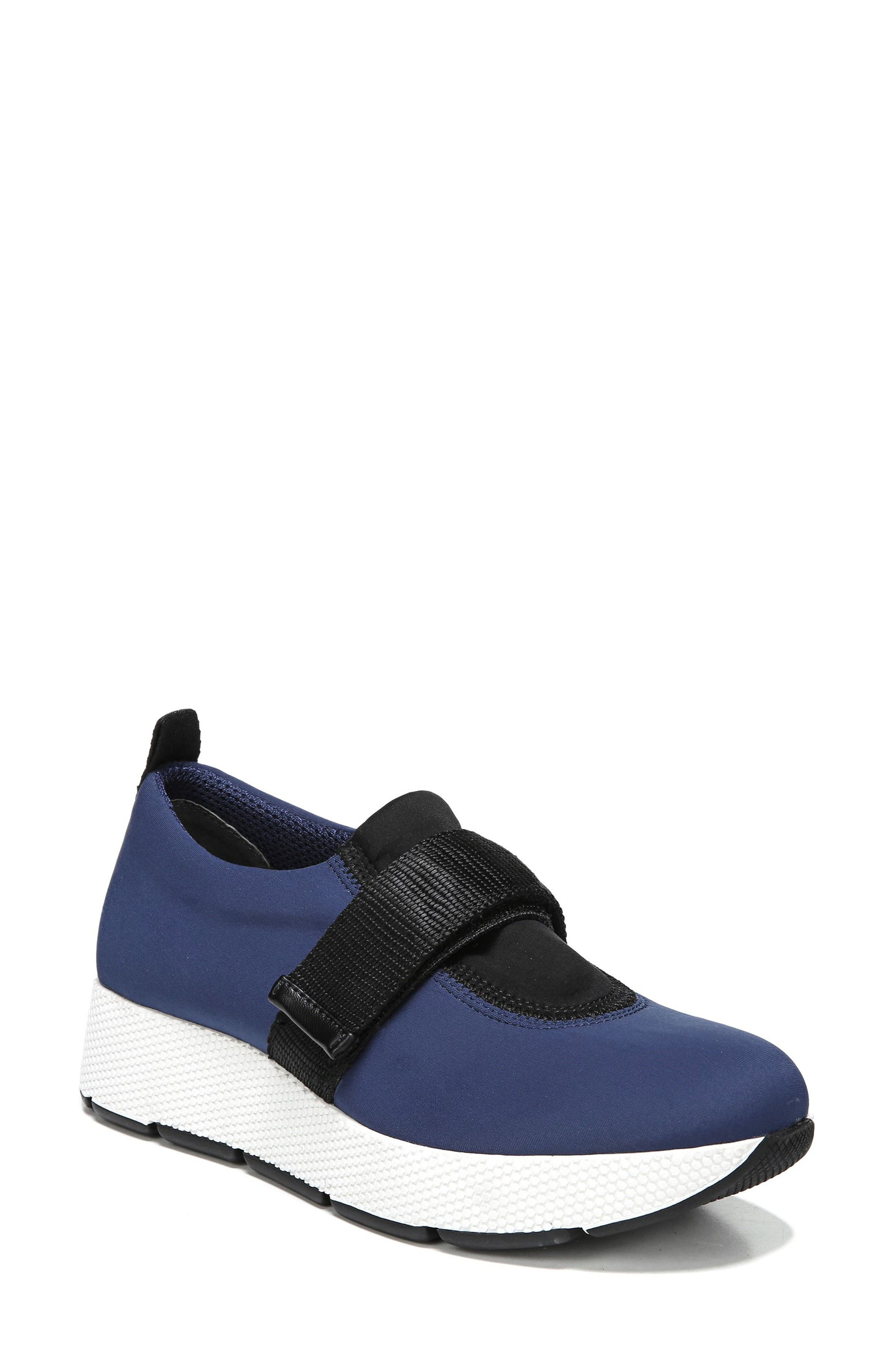 Odella Slip-On Sneaker,                             Main thumbnail 1, color,                             Navy Fabric