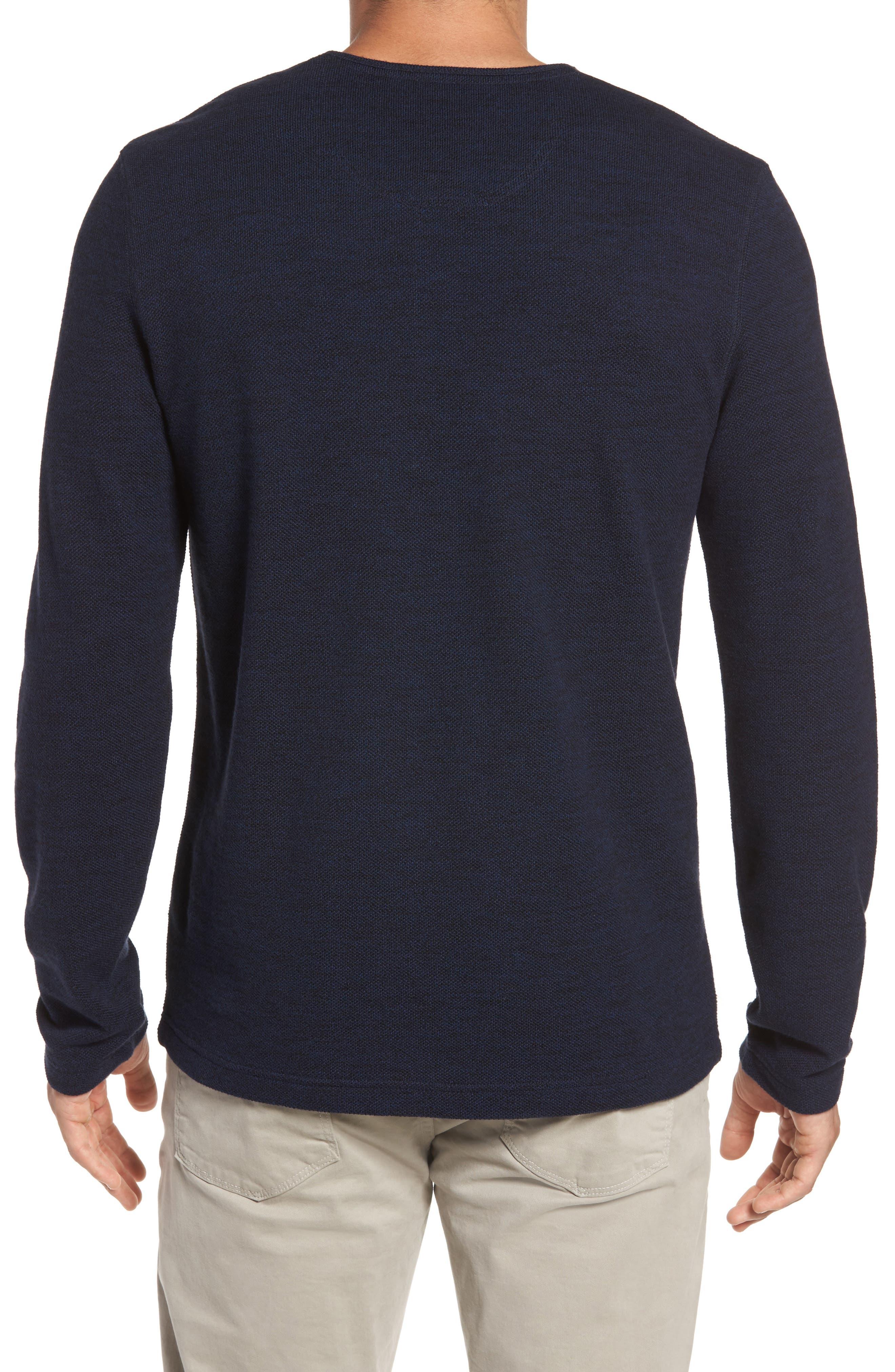 Alternate Image 2  - Nordstrom Men's Shop Hacci Knit Henley (Tall)