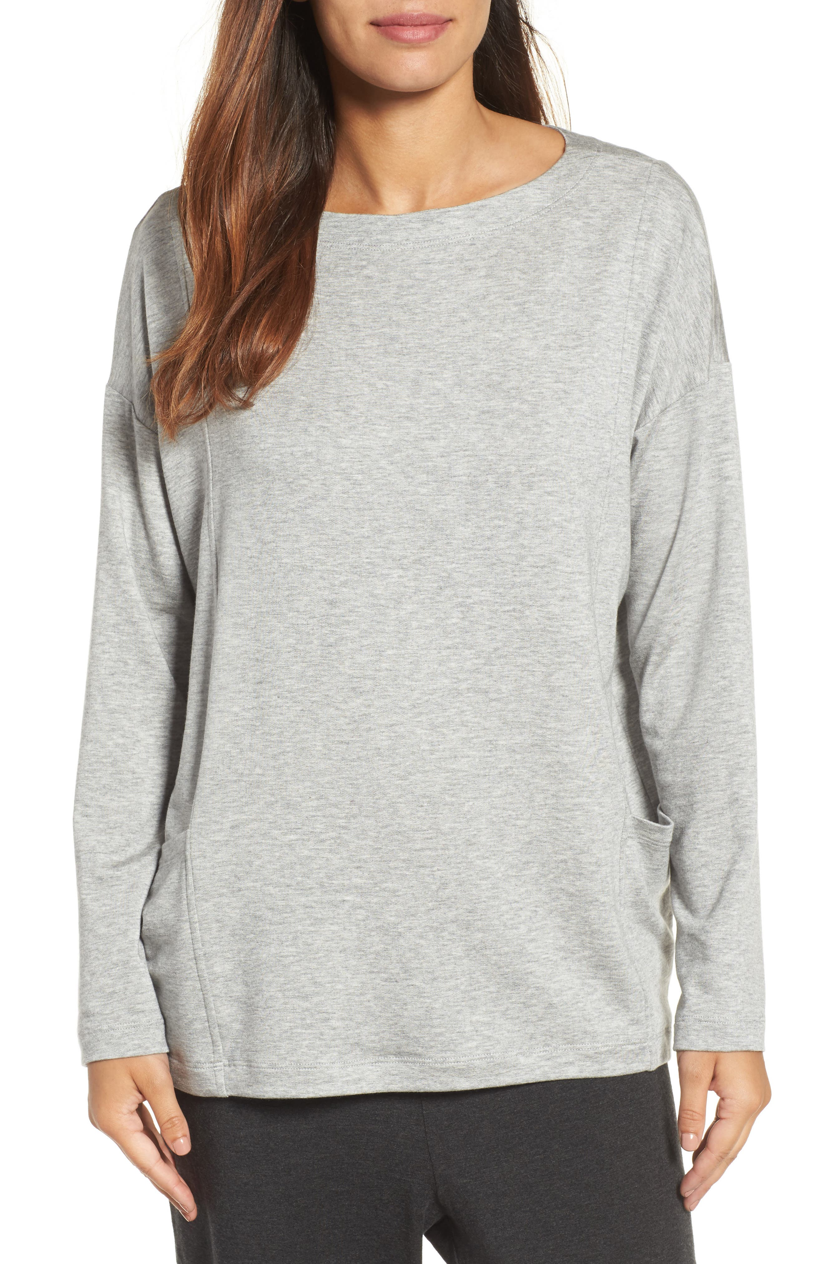 Main Image - Eileen Fisher Bateau Neck Sweater