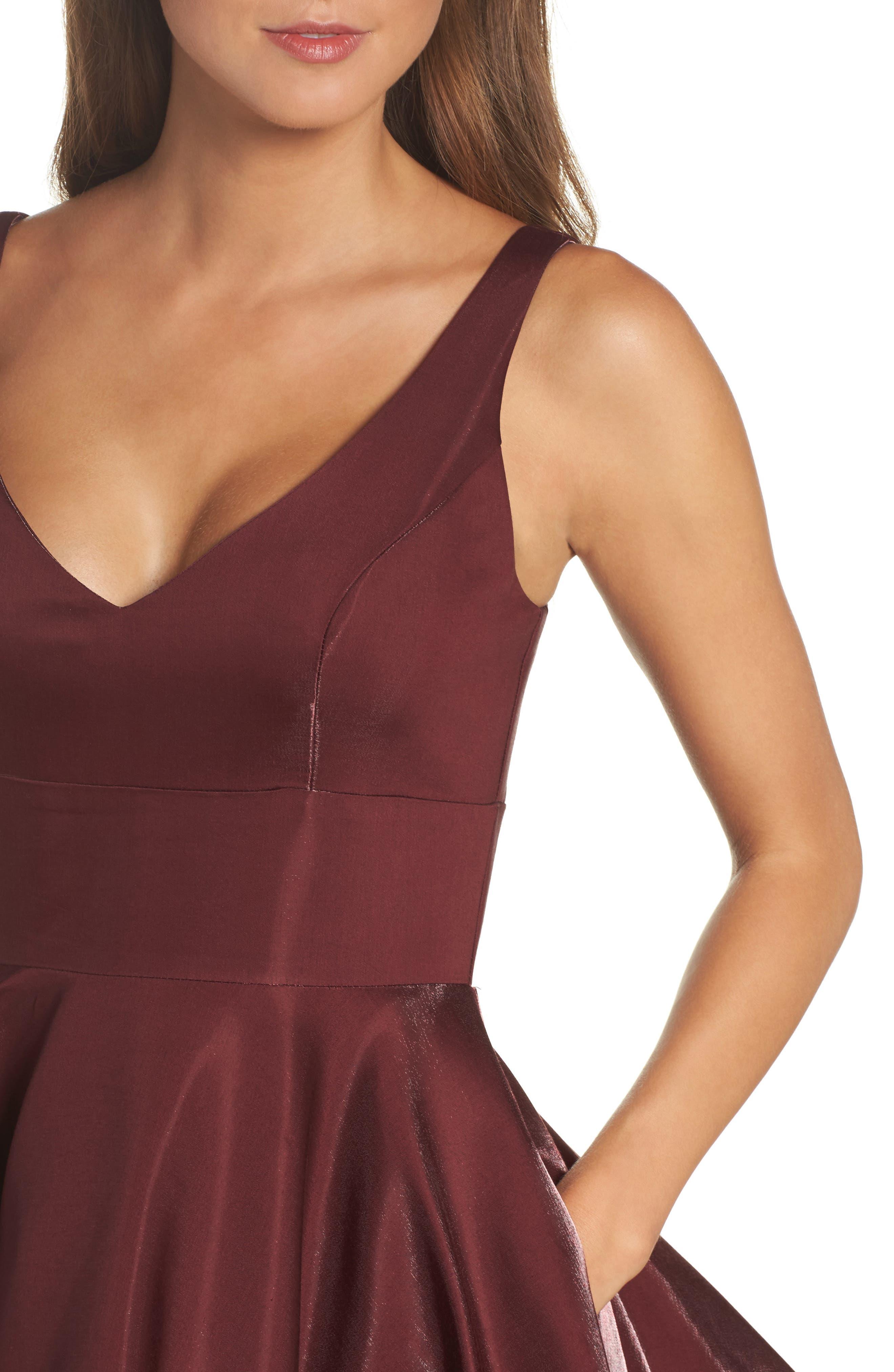 Alternate Image 4  - Xscape Shimmer Fit & Flare Dress