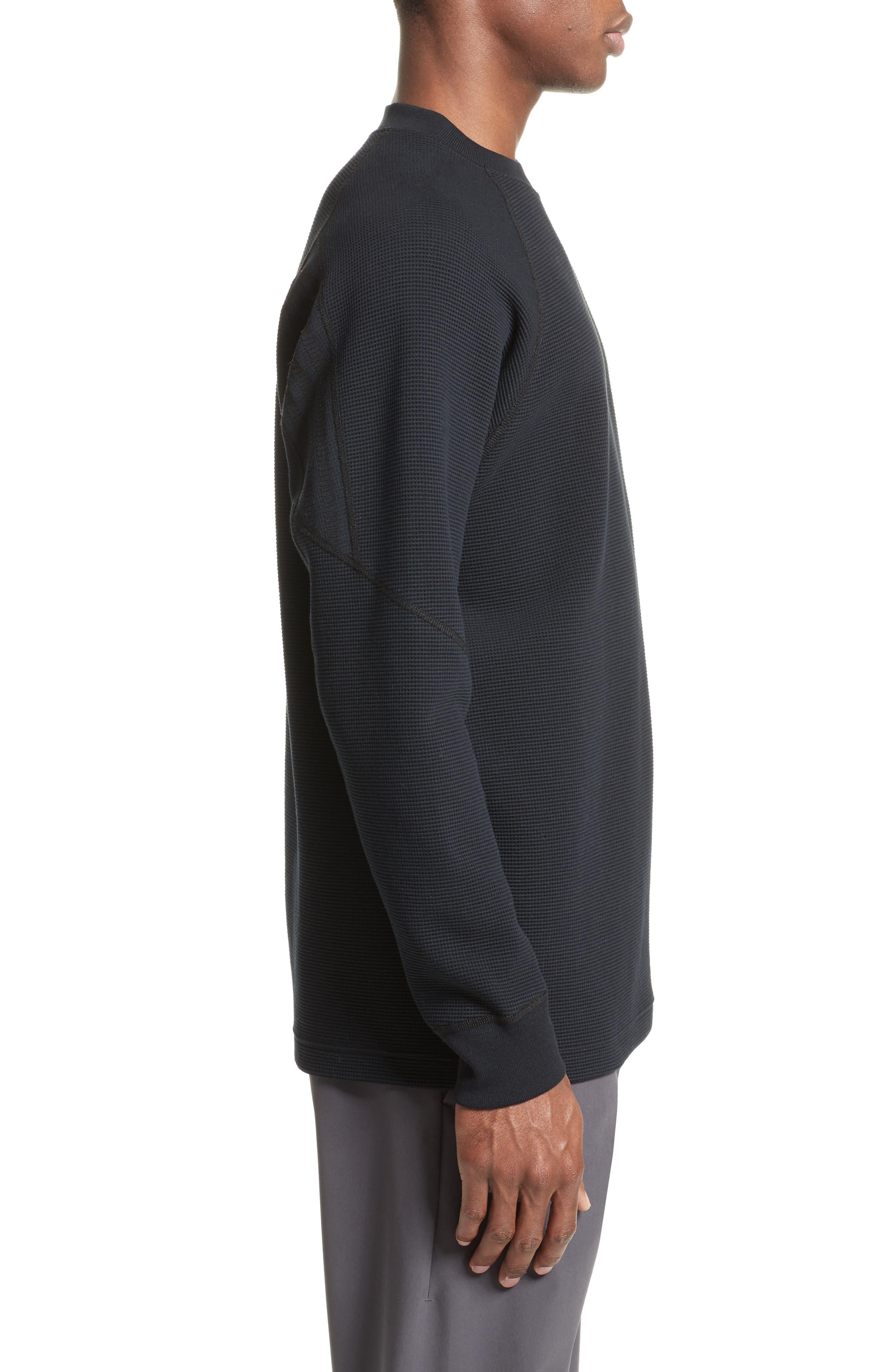 Fisherman Crewneck Sweatshirt,                             Alternate thumbnail 3, color,                             Black