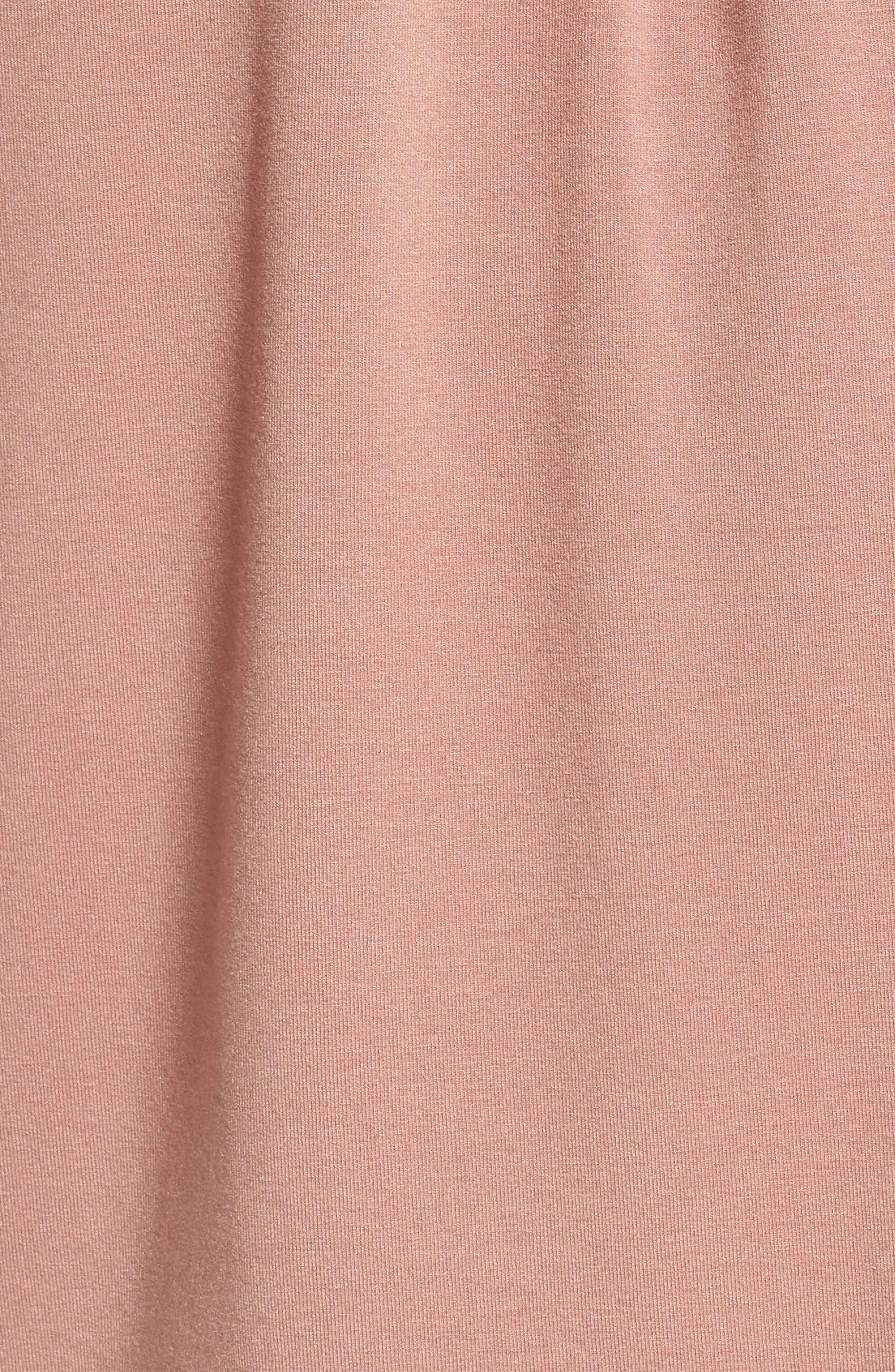 Lace Trim V-Neck Top,                             Alternate thumbnail 5, color,                             Dusty Mauve