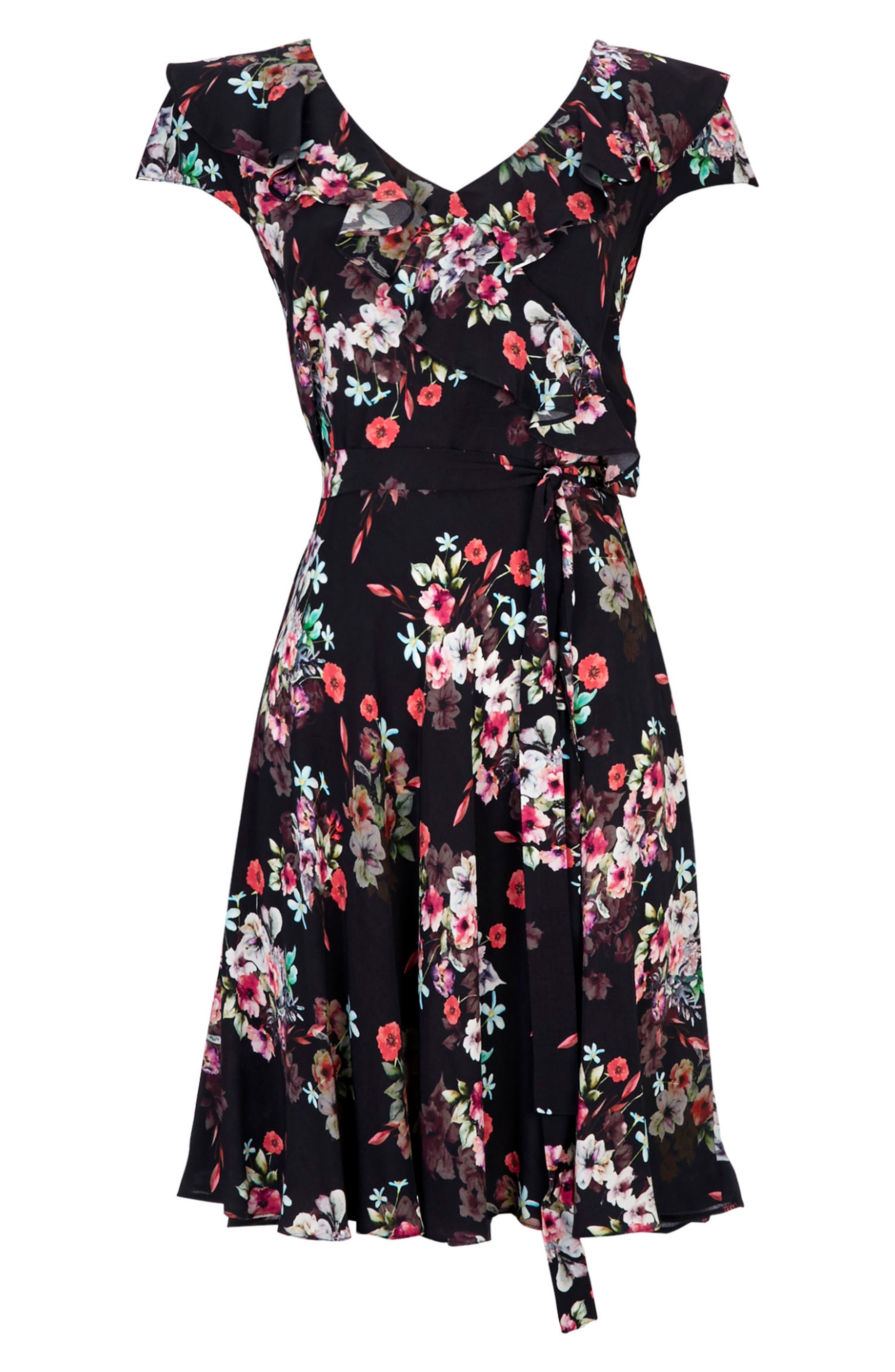 Alternate Image 5  - Wallis Orange Blossom A-Line Dress