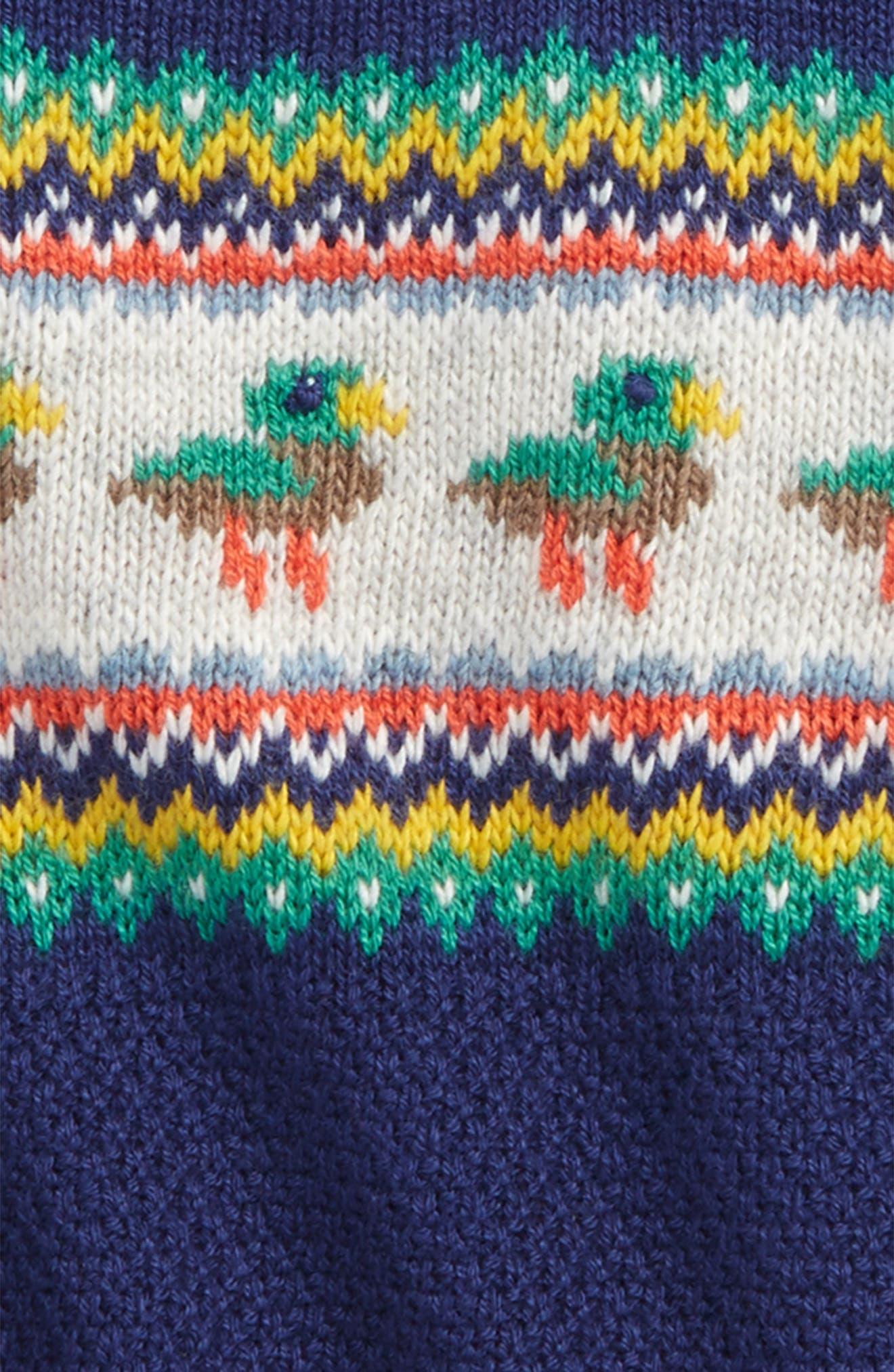Fun Knit Sweater,                             Alternate thumbnail 2, color,                             Beacon Blue Ducks