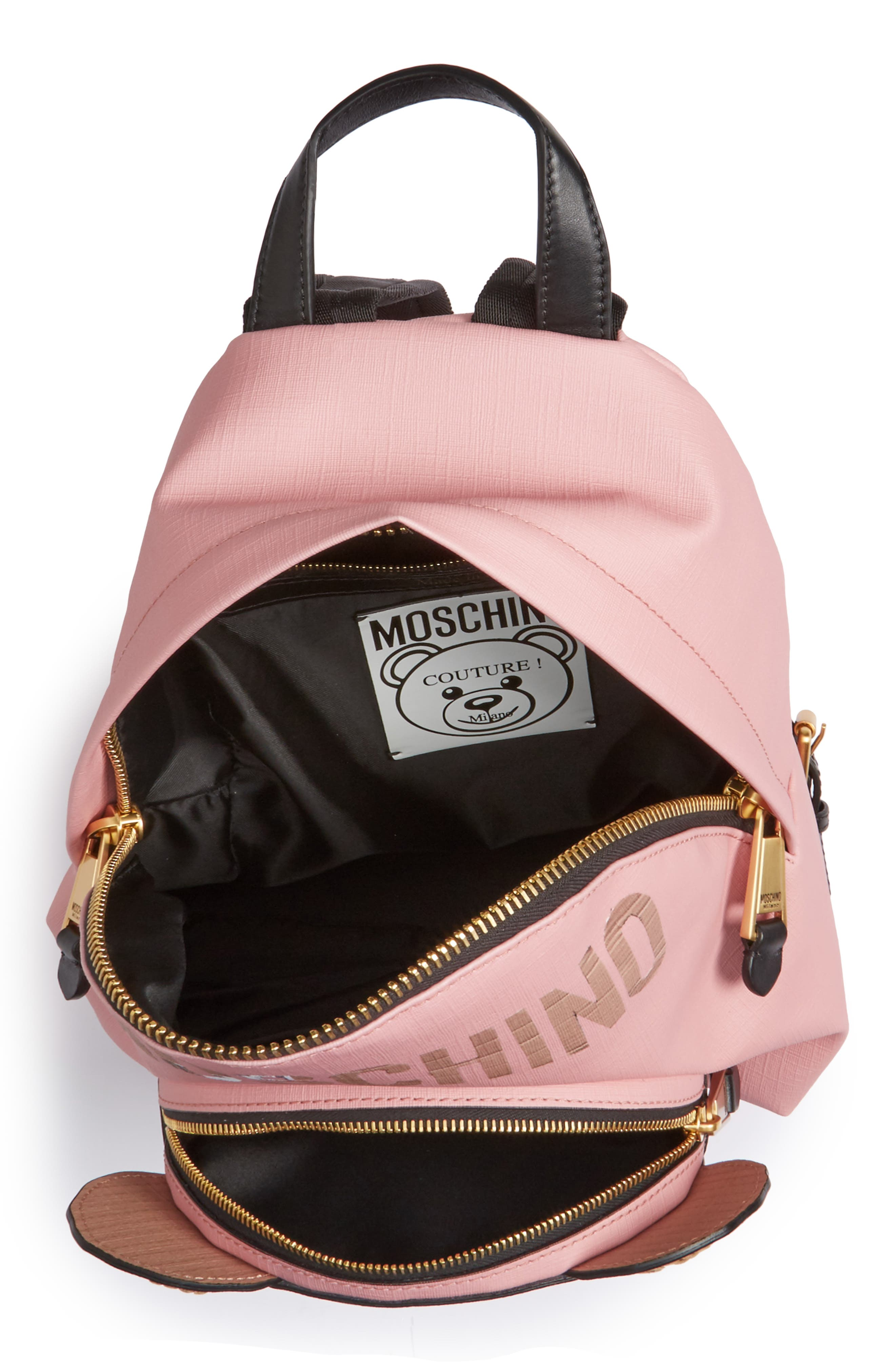 Alternate Image 4  - Moschino Cardboard Bear Leather Backpack