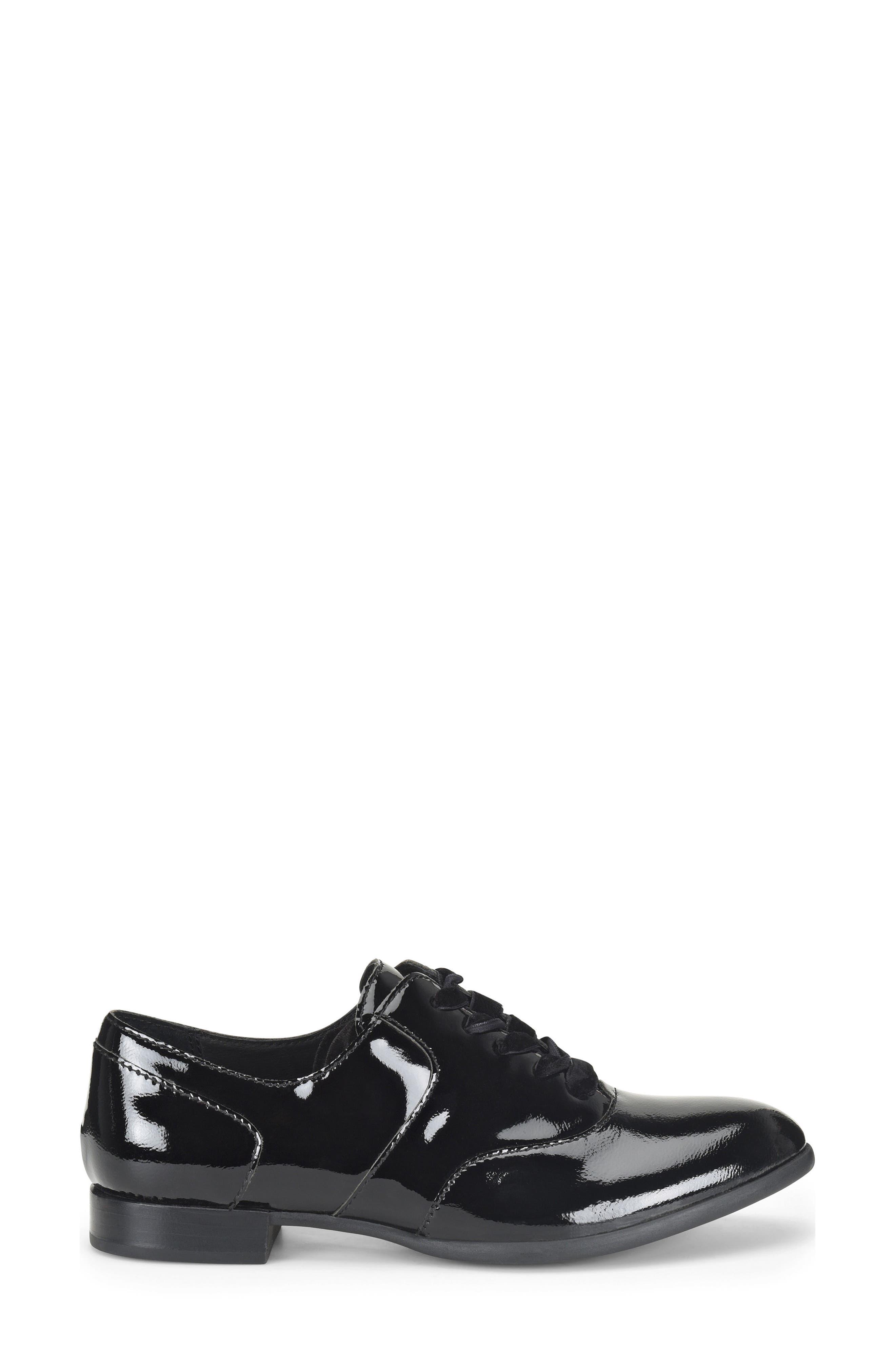 Eden Flat,                             Alternate thumbnail 3, color,                             Black Patent Leather