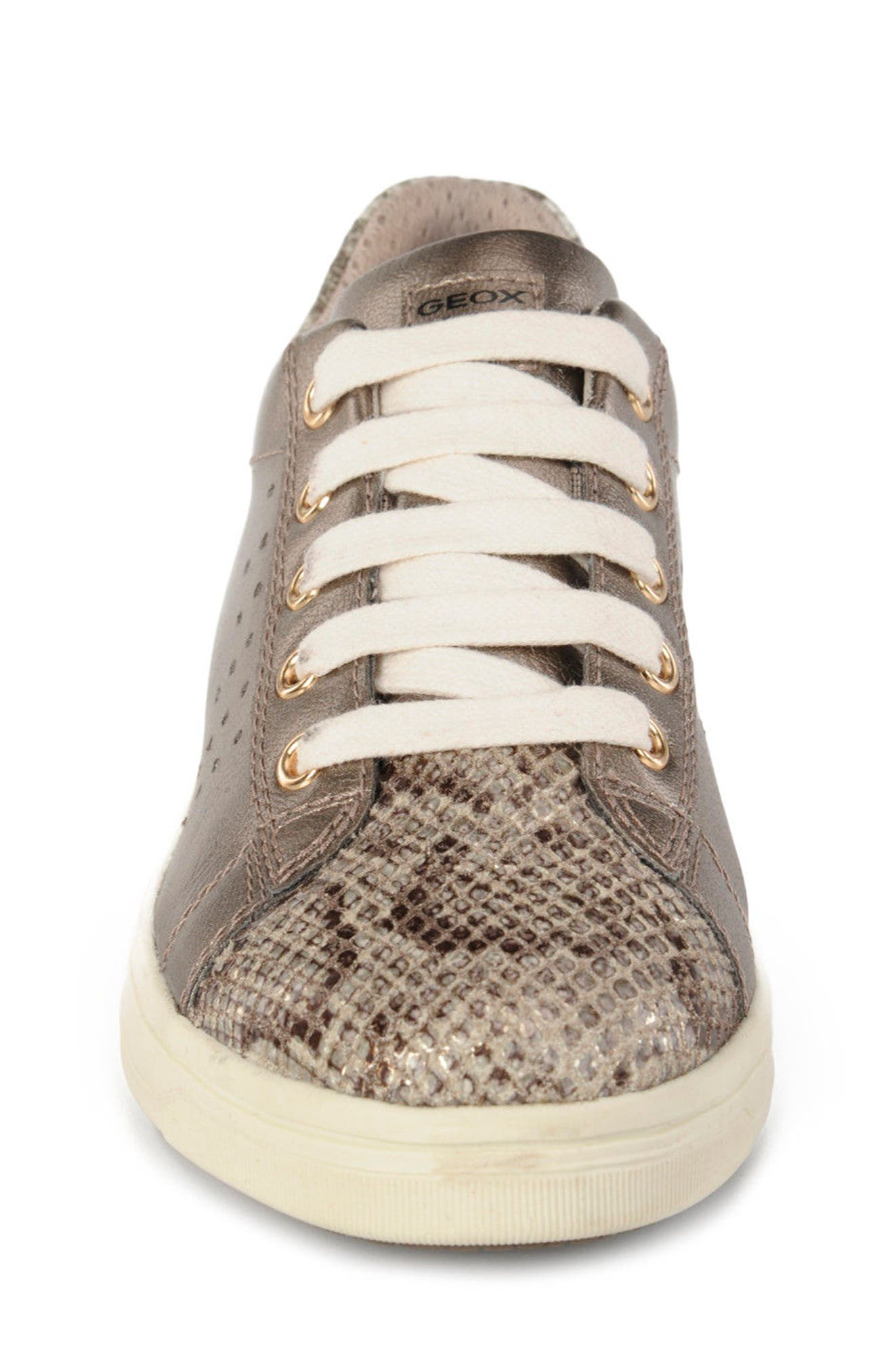 Cave Up Girl Low Top Sneaker,                             Alternate thumbnail 4, color,                             Gold
