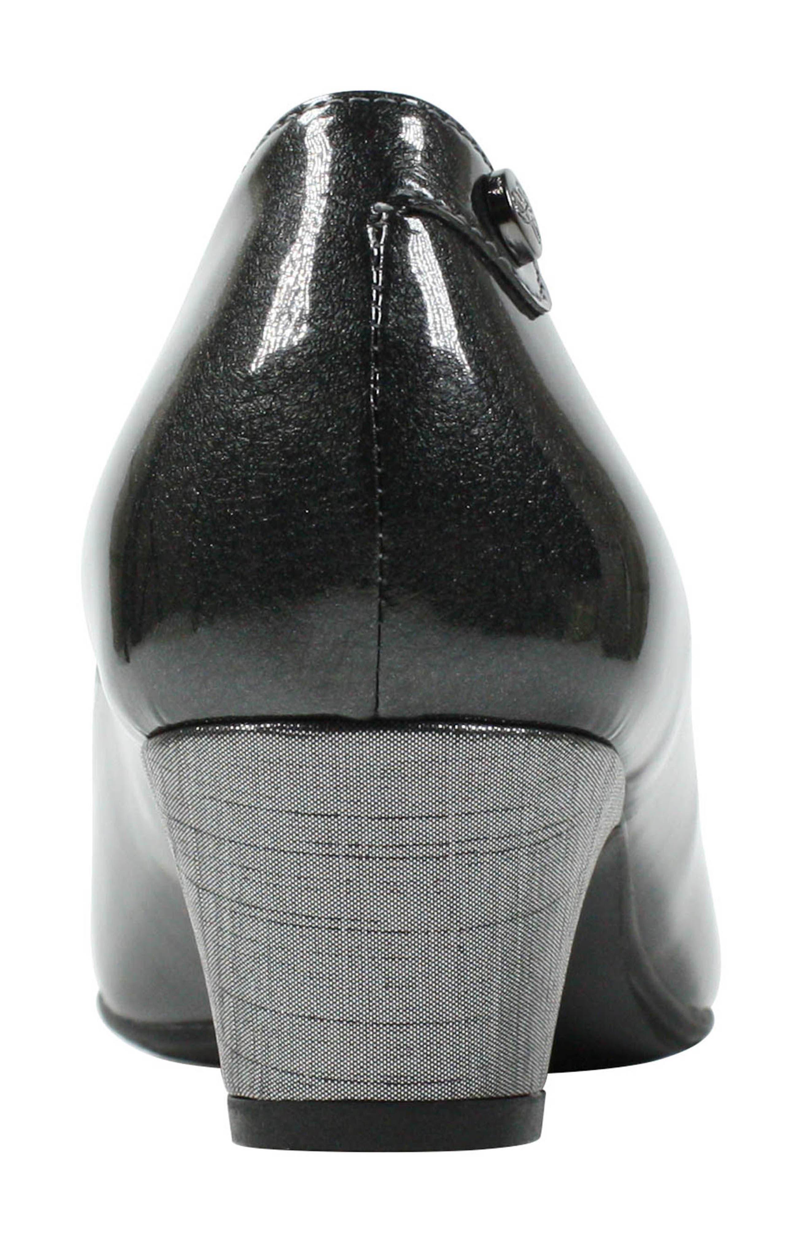 Prattsi Pump,                             Alternate thumbnail 4, color,                             Pewter Patent Leather