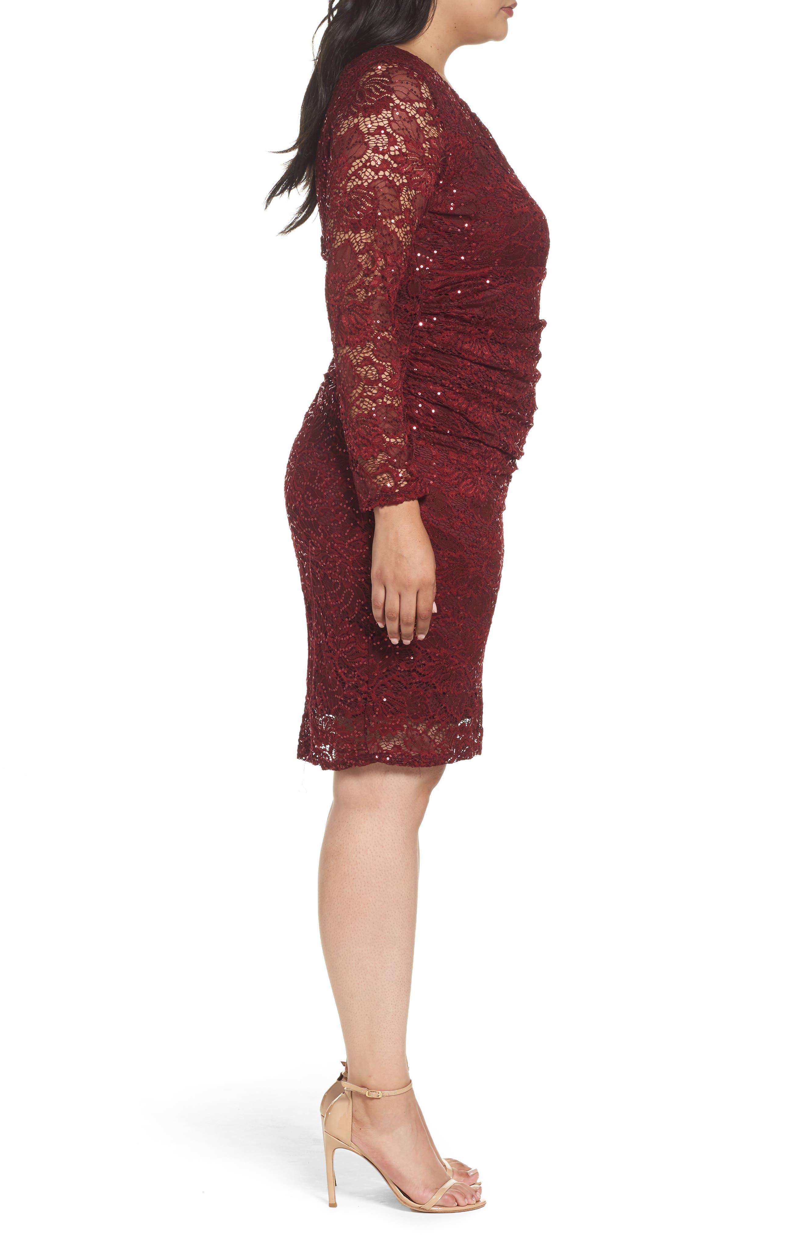 Alternate Image 3  - Marina Lace Sheath Dress (Plus Size)
