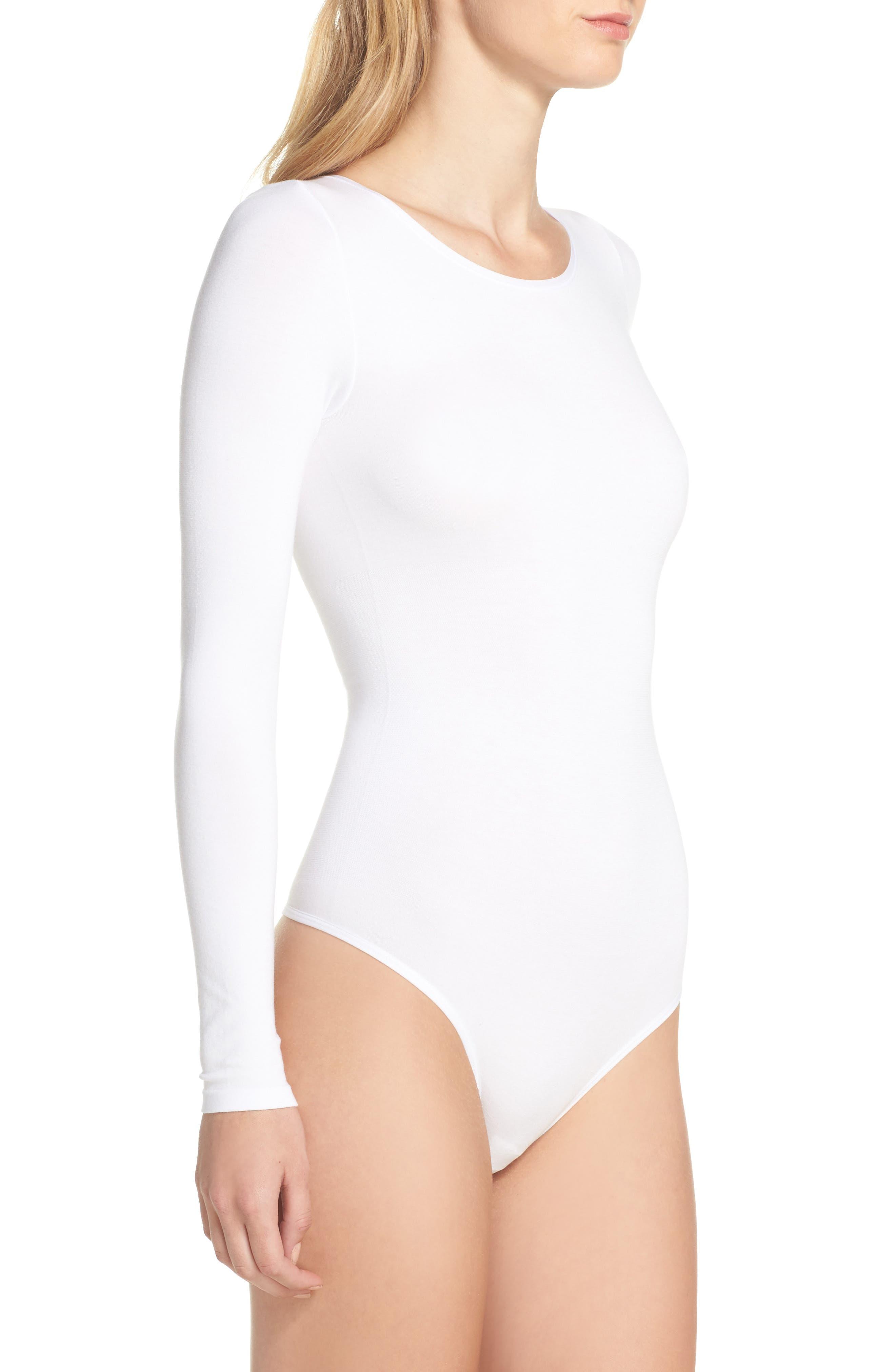 Thong Bodysuit,                             Alternate thumbnail 3, color,                             White