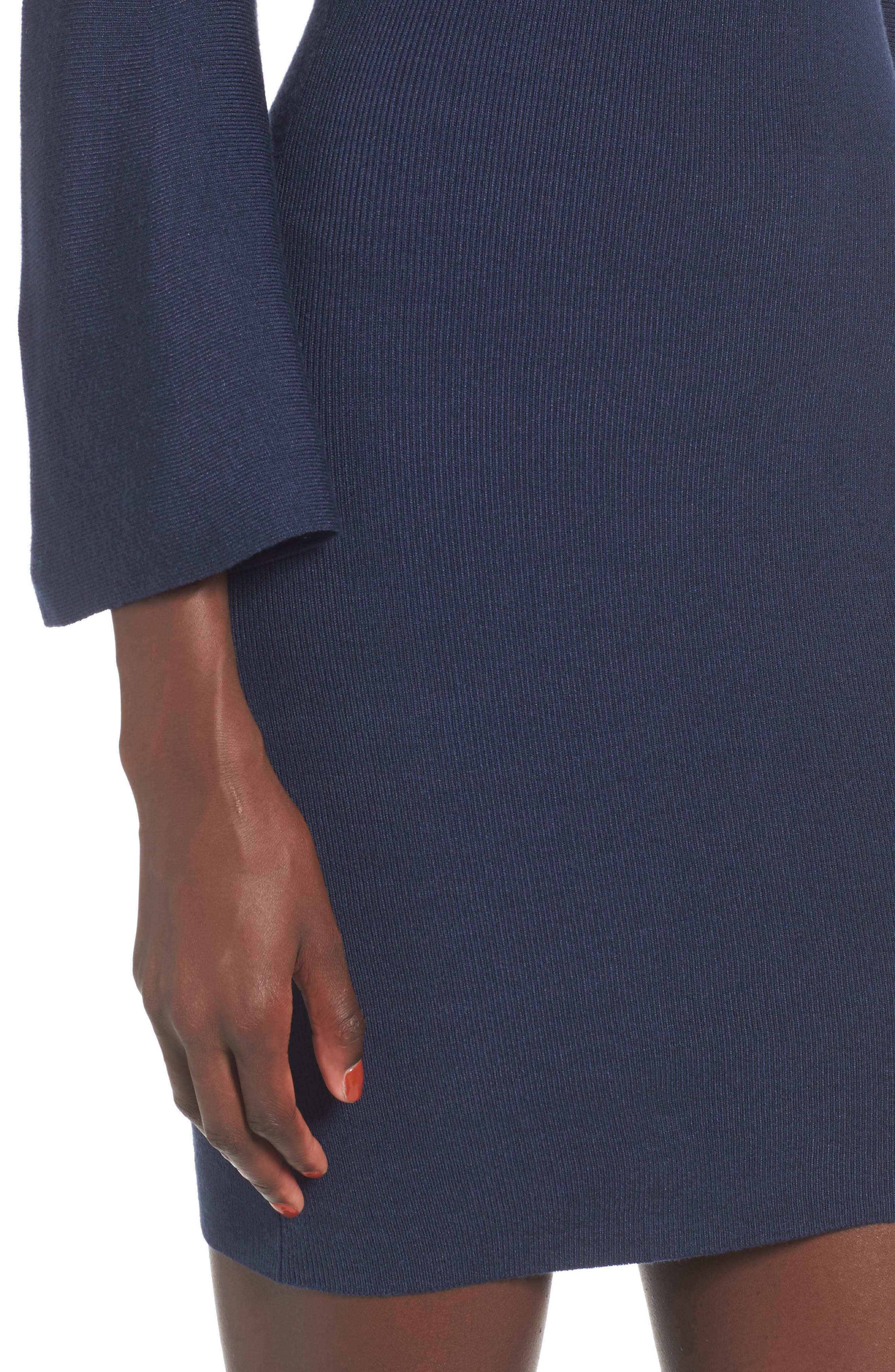 Alternate Image 4  - J.O.A. Flare Sleeve Body-Con Dress