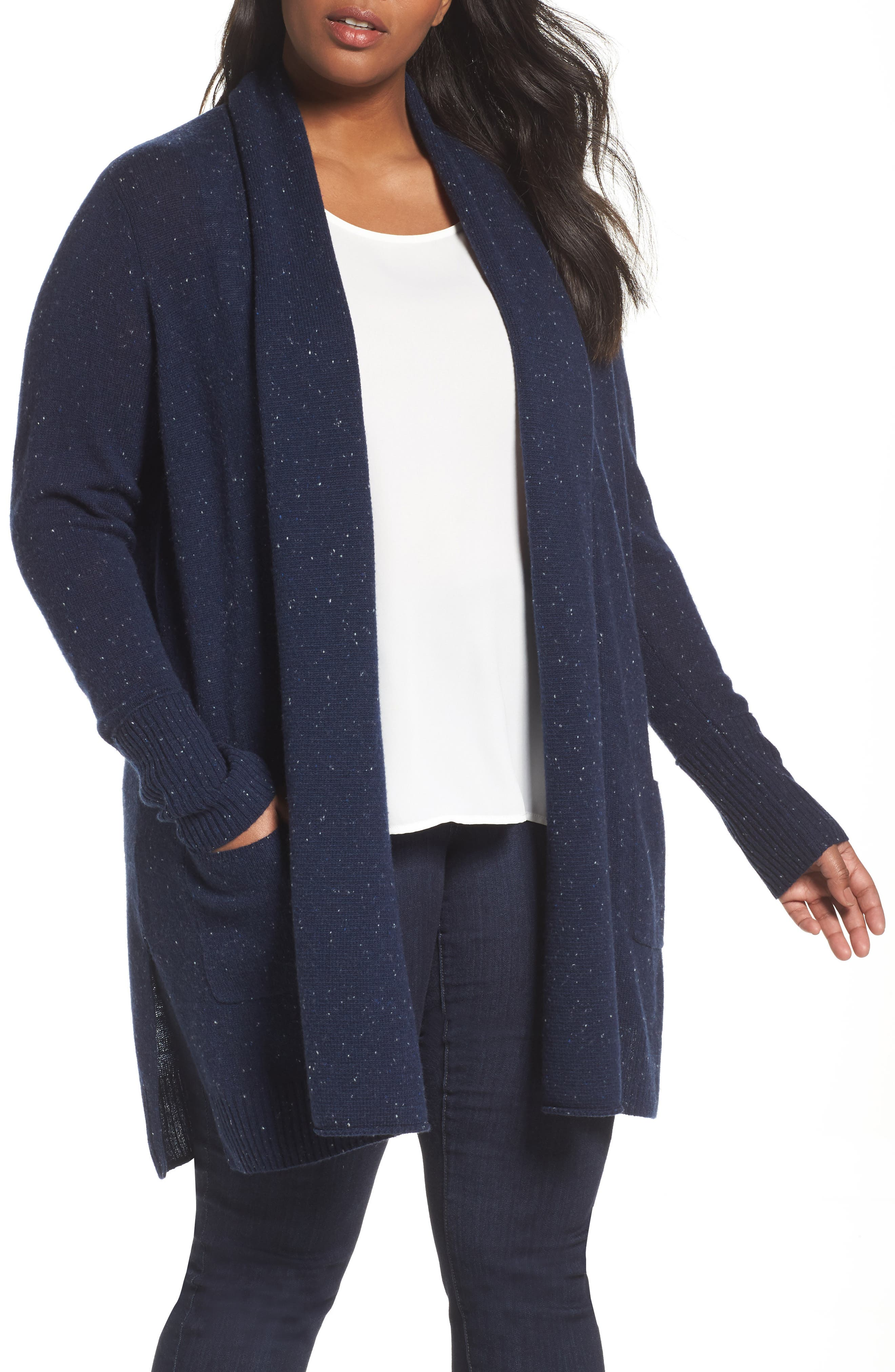 Pocket Cardigan,                         Main,                         color, Navy Night