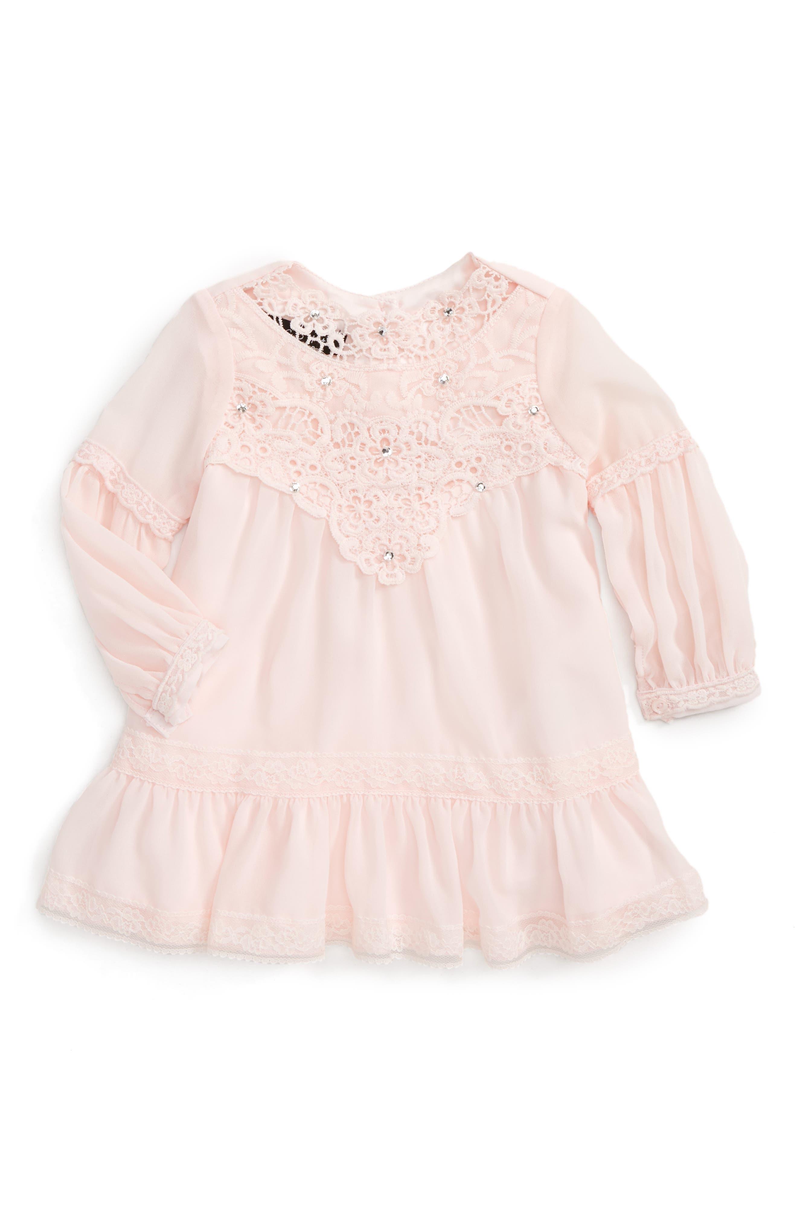 Biscotti Lace Yoke Dress (Baby Girls)