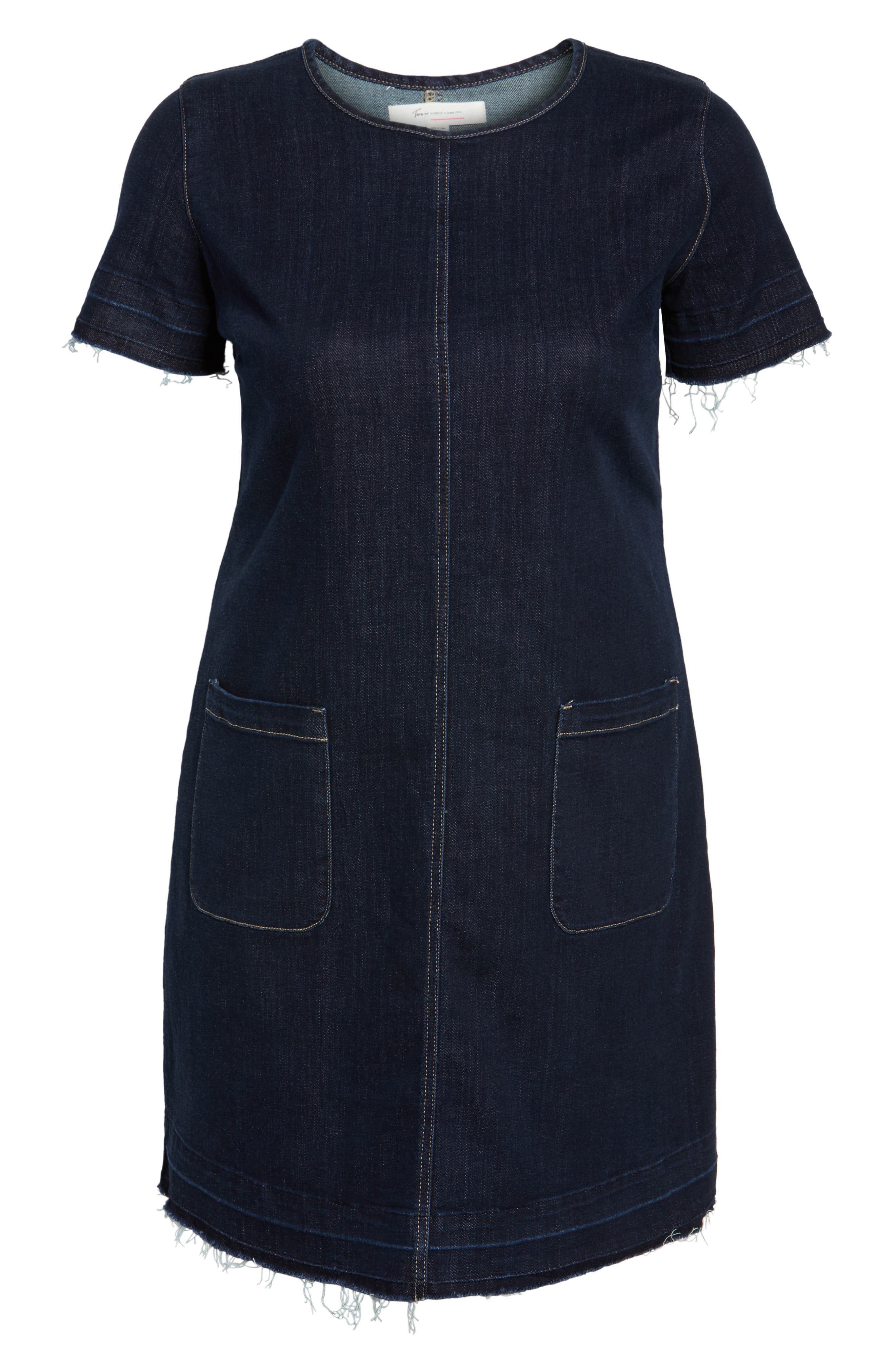 Alternate Image 6  - Two by Vince Camuto Release Hem Denim Dress (Plus Size)