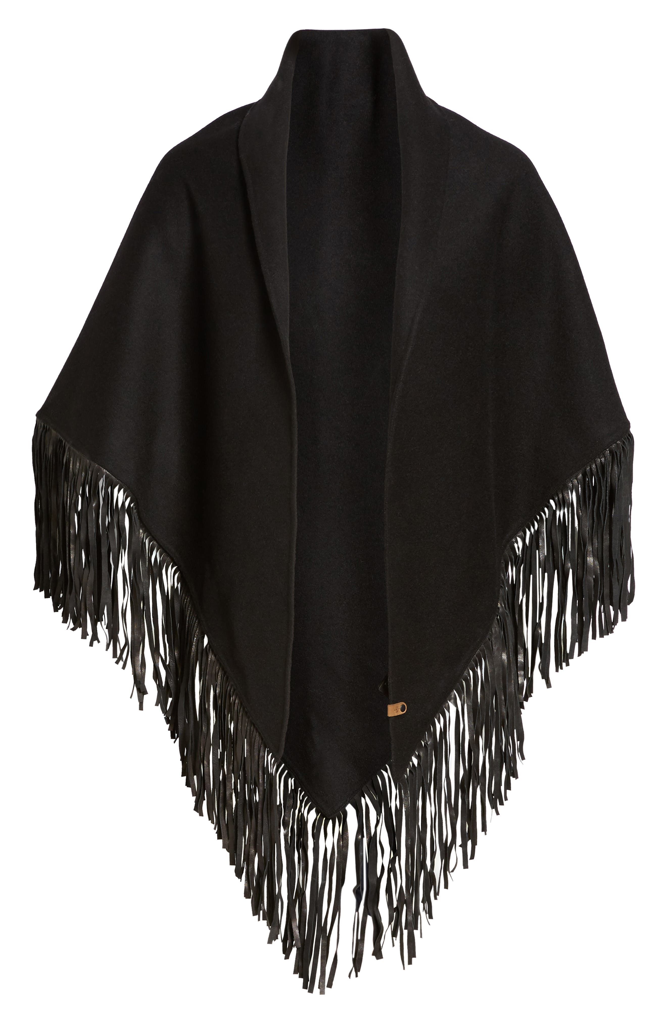 Alternate Image 5  - Mackage Fida Leather Fringe Shawl