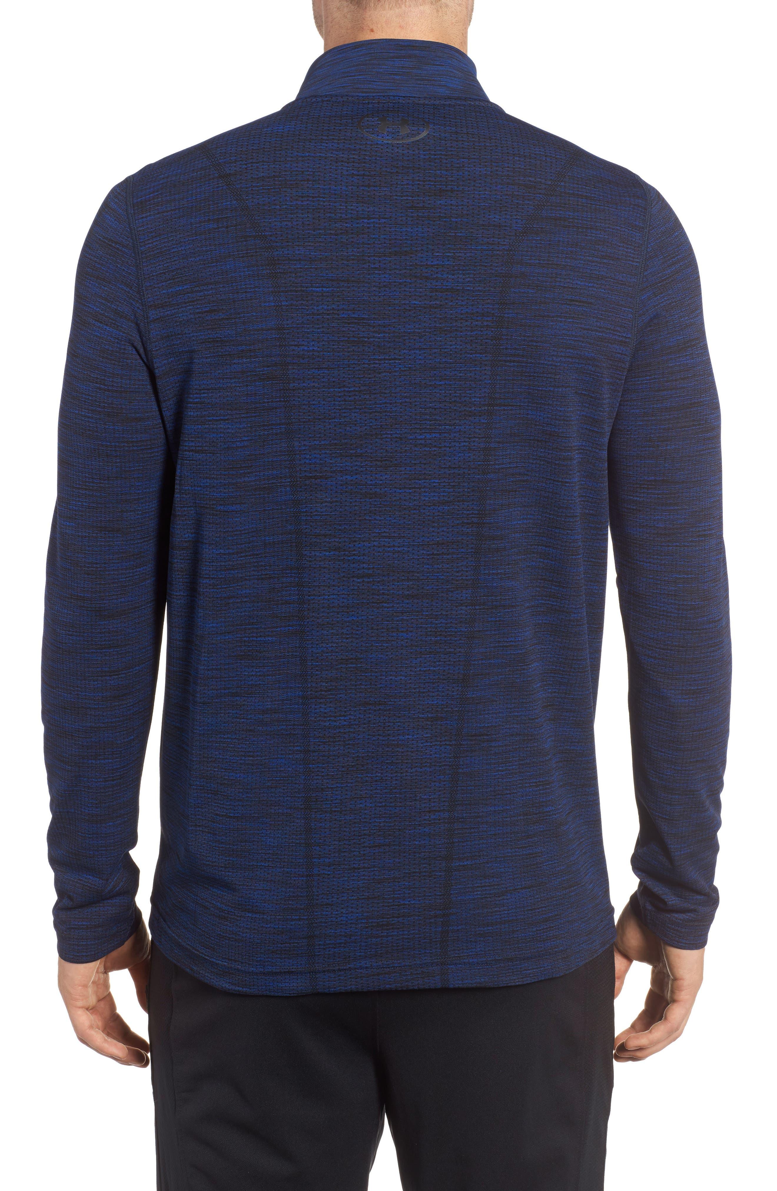 Threadborne Seamless Quarter Zip Pullover,                             Alternate thumbnail 2, color,                             Blue