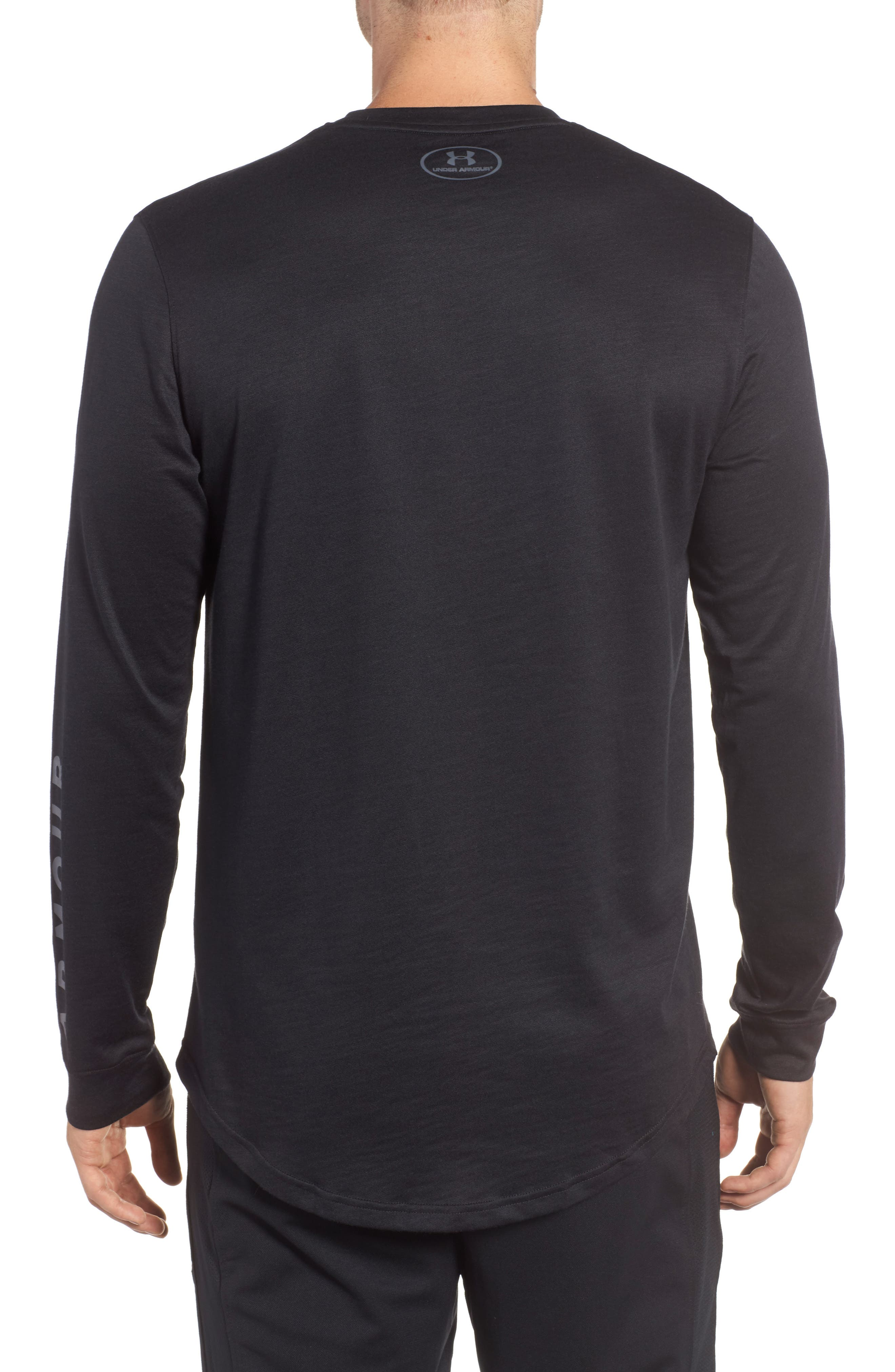 Sportstyle Long Sleeve Graphic T-Shirt,                             Alternate thumbnail 2, color,                             Black / Stealth Gray
