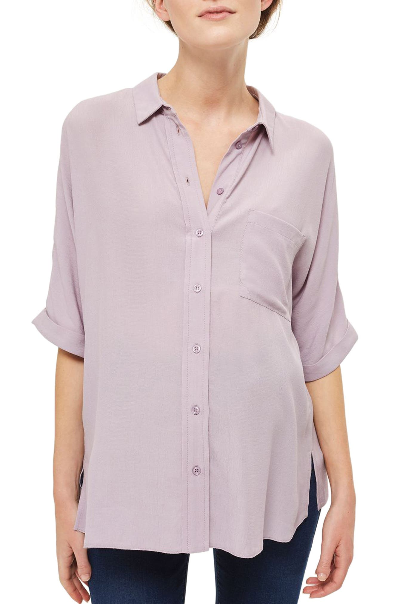 Alternate Image 1 Selected - Topshop Kady Roll Sleeve Maternity Top