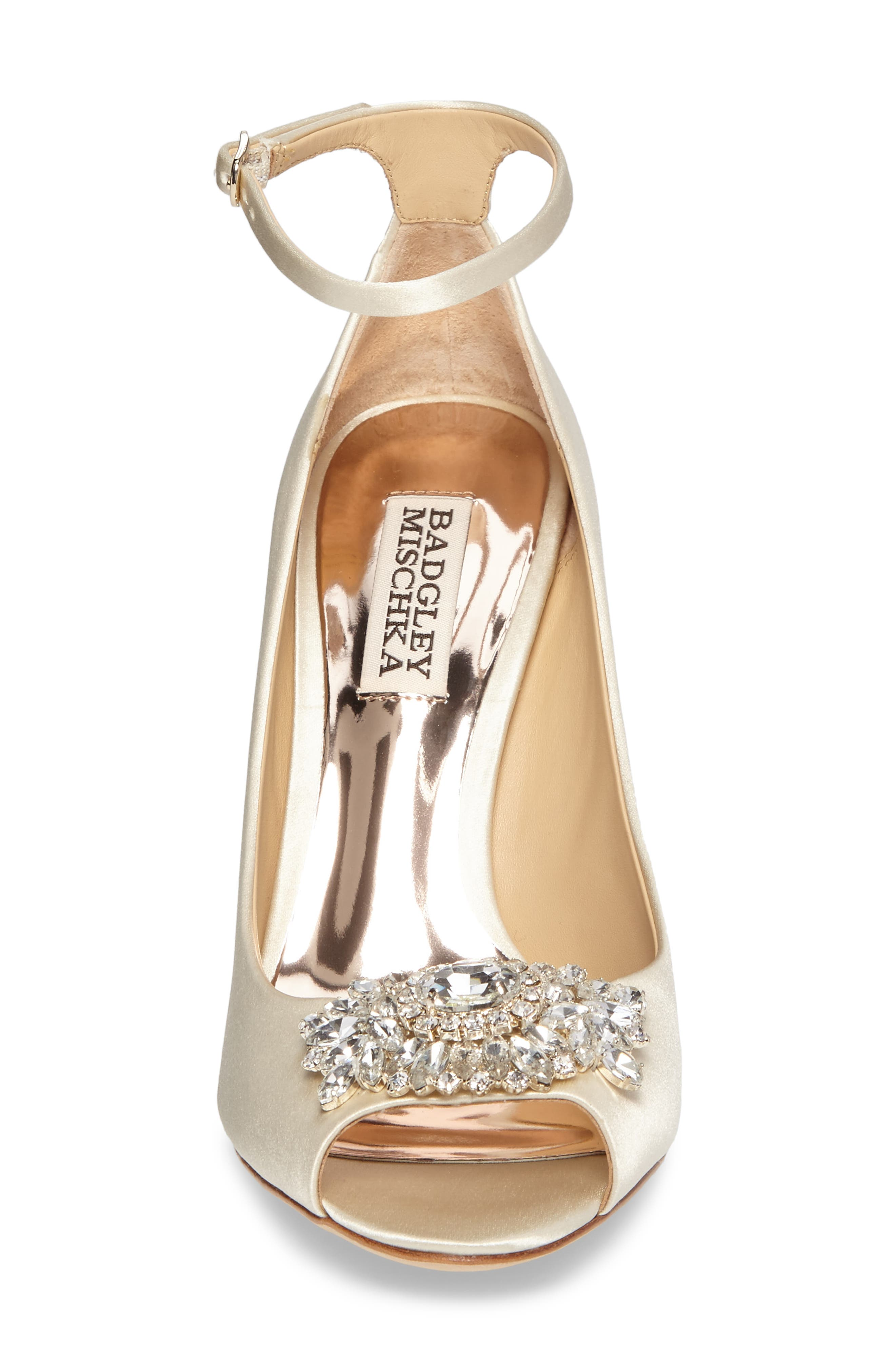 Alternate Image 4  - Badgley Mischka Kali Ankle Strap Pump (Women)