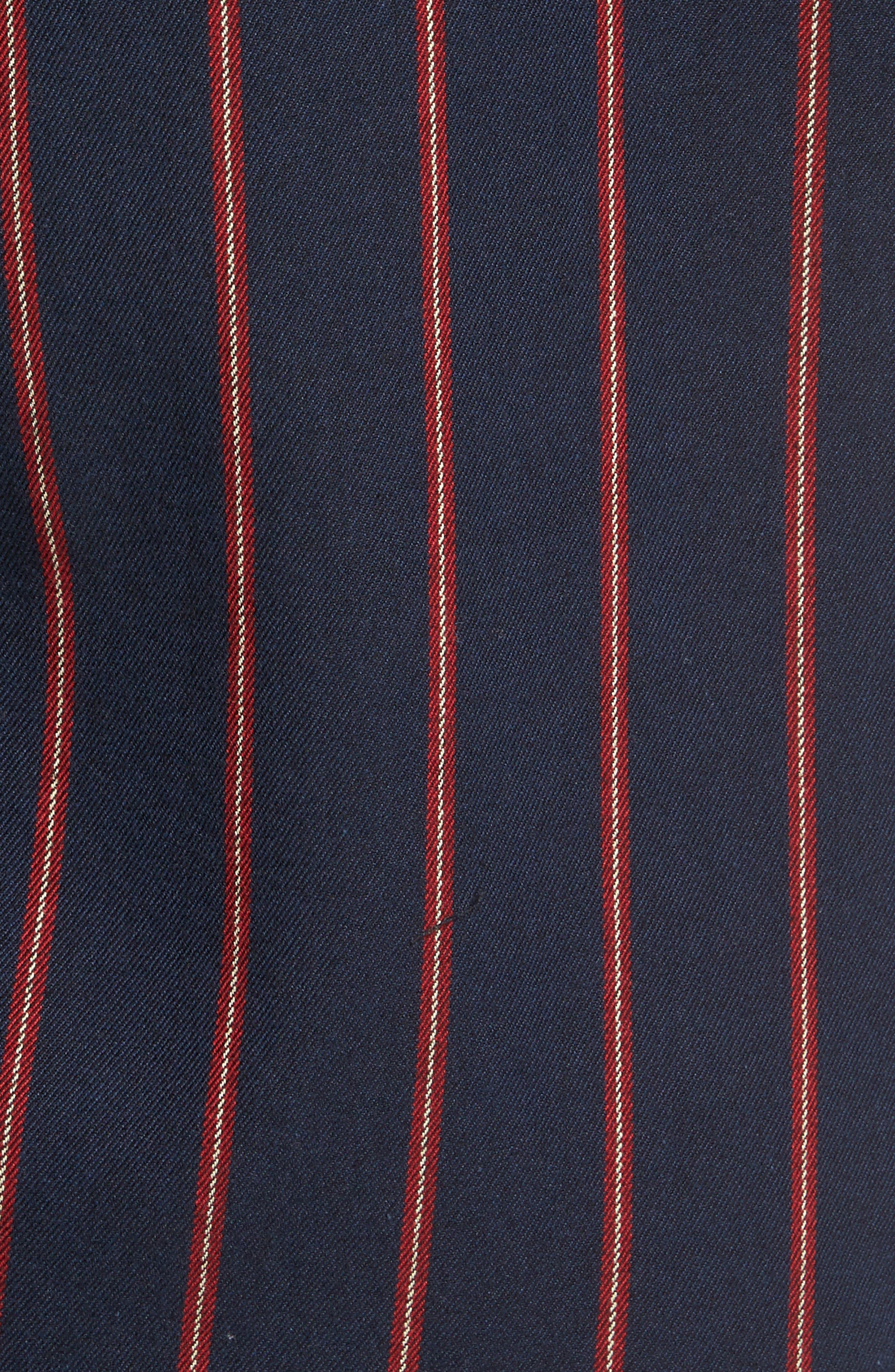 The Rail Long Sleeve Twill Shirt,                             Alternate thumbnail 5, color,                             Navy Peacoat Red Stripe