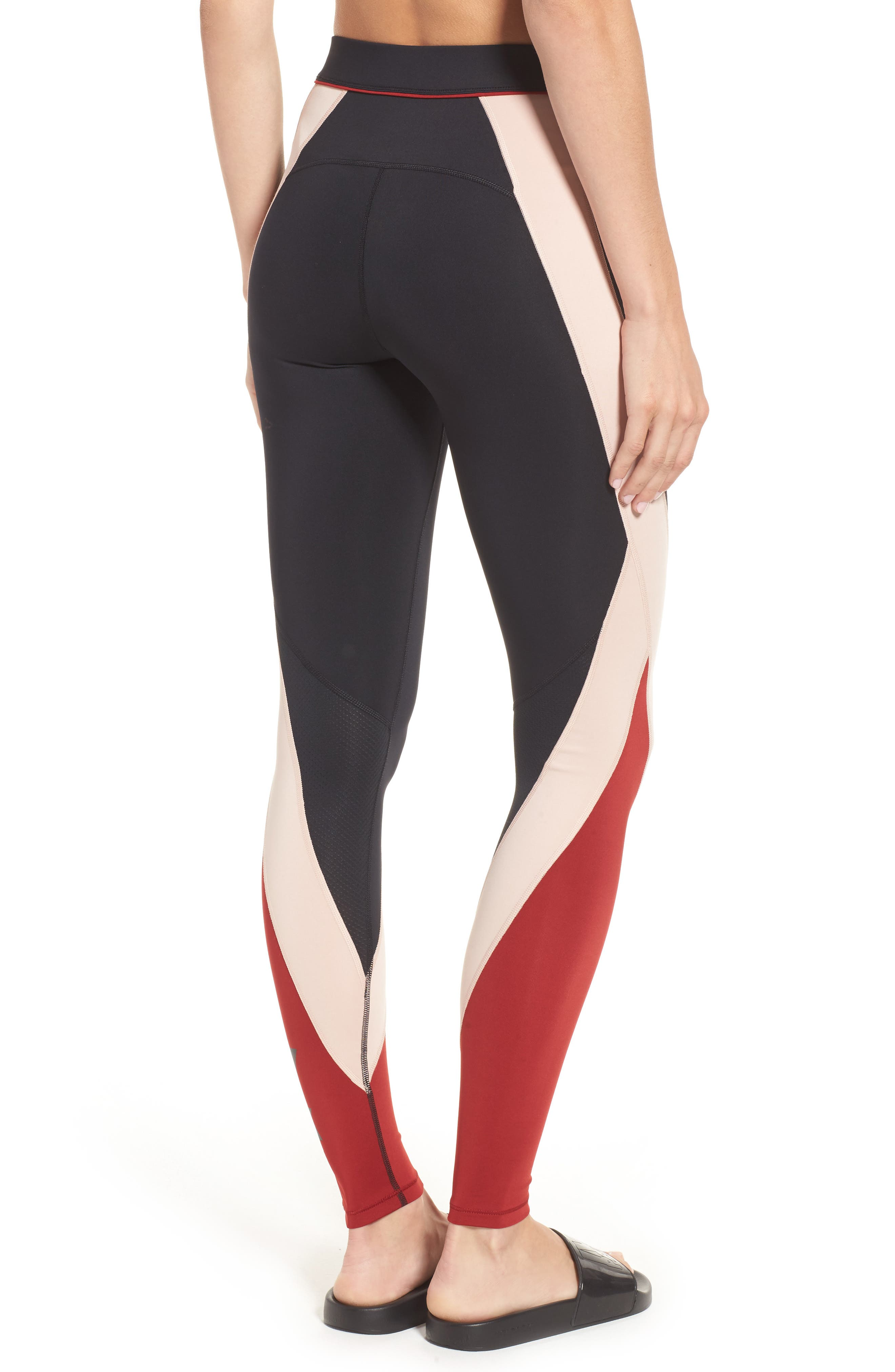 Alternate Image 2  - IVY PARK® Colorblock Mid Rise Ankle Leggings