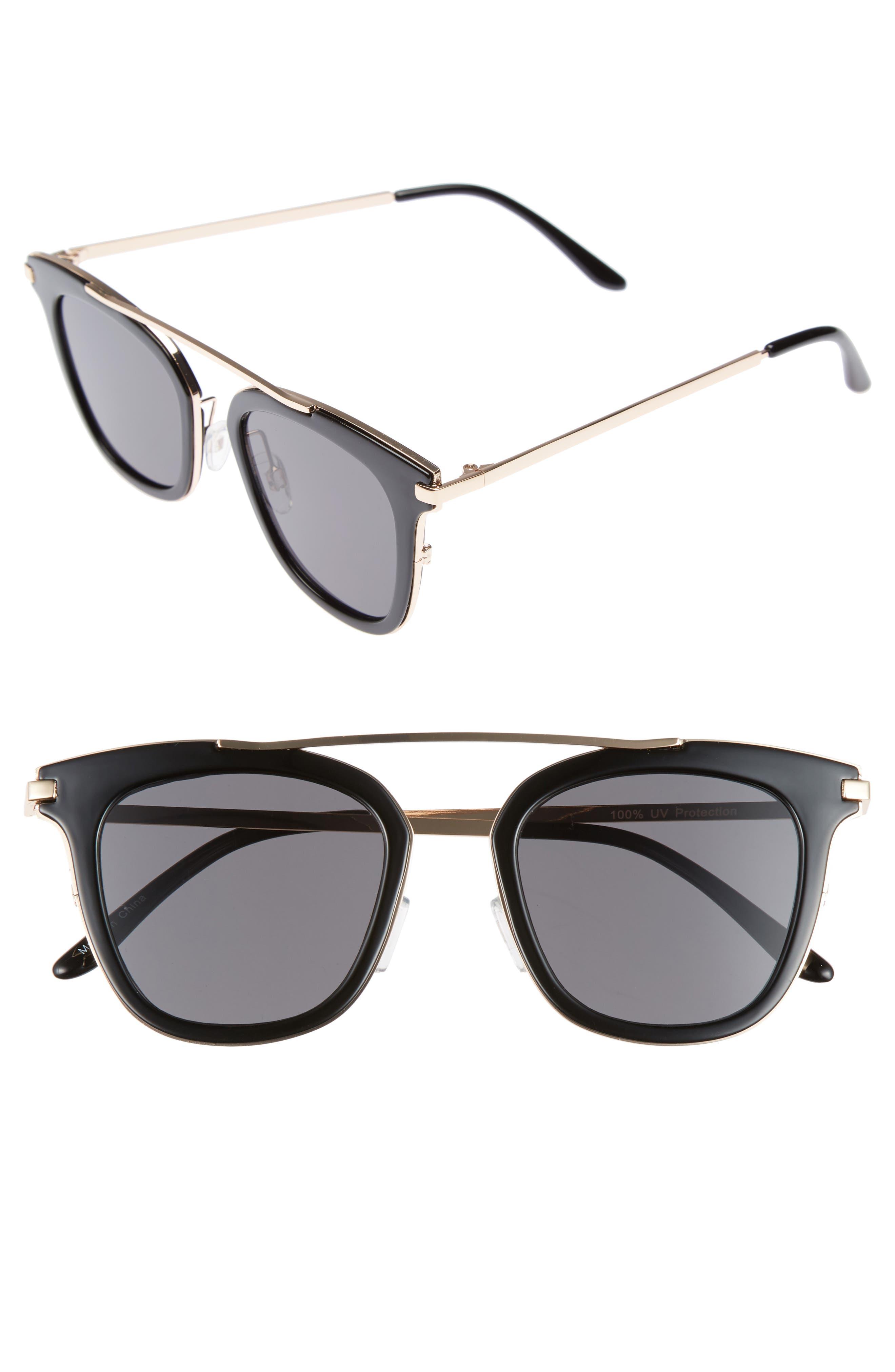 50mm Sunglasses,                         Main,                         color, Black