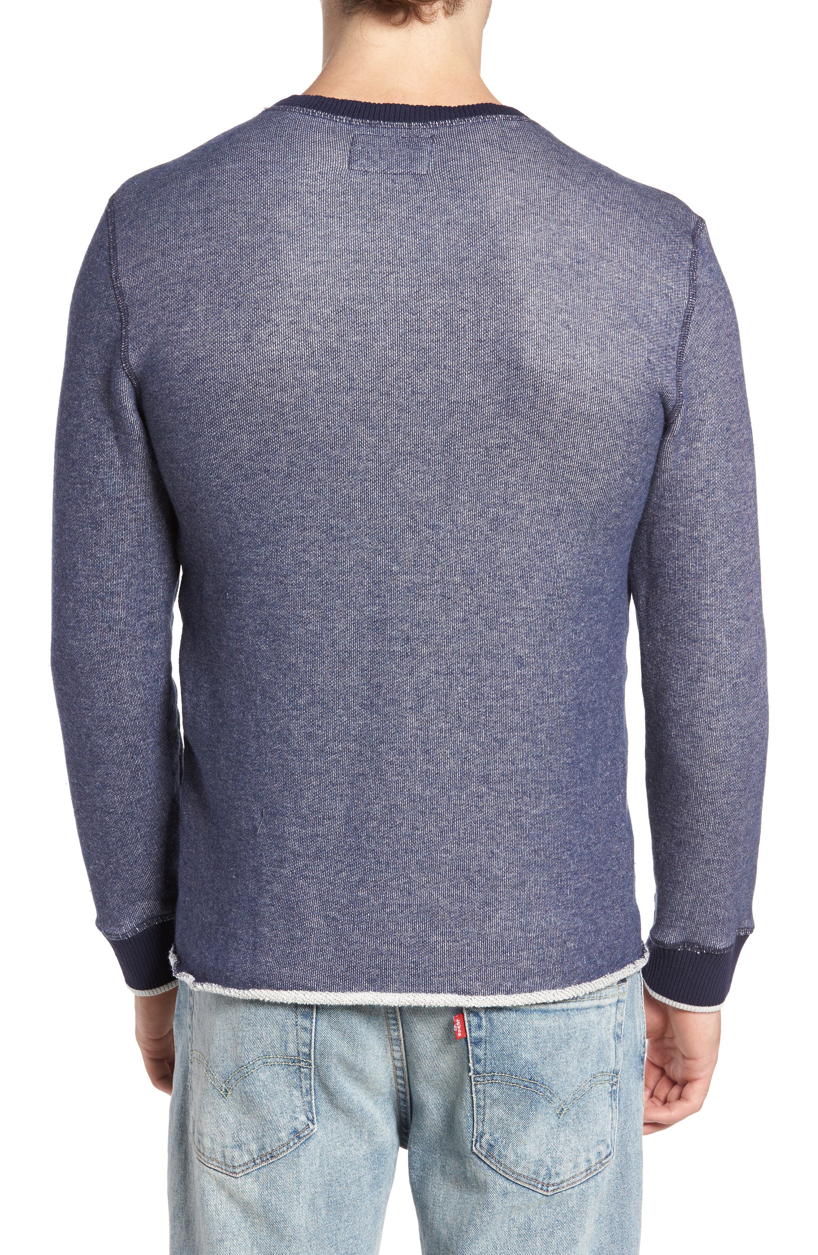 Twisted Pullover,                             Alternate thumbnail 2, color,                             Blue