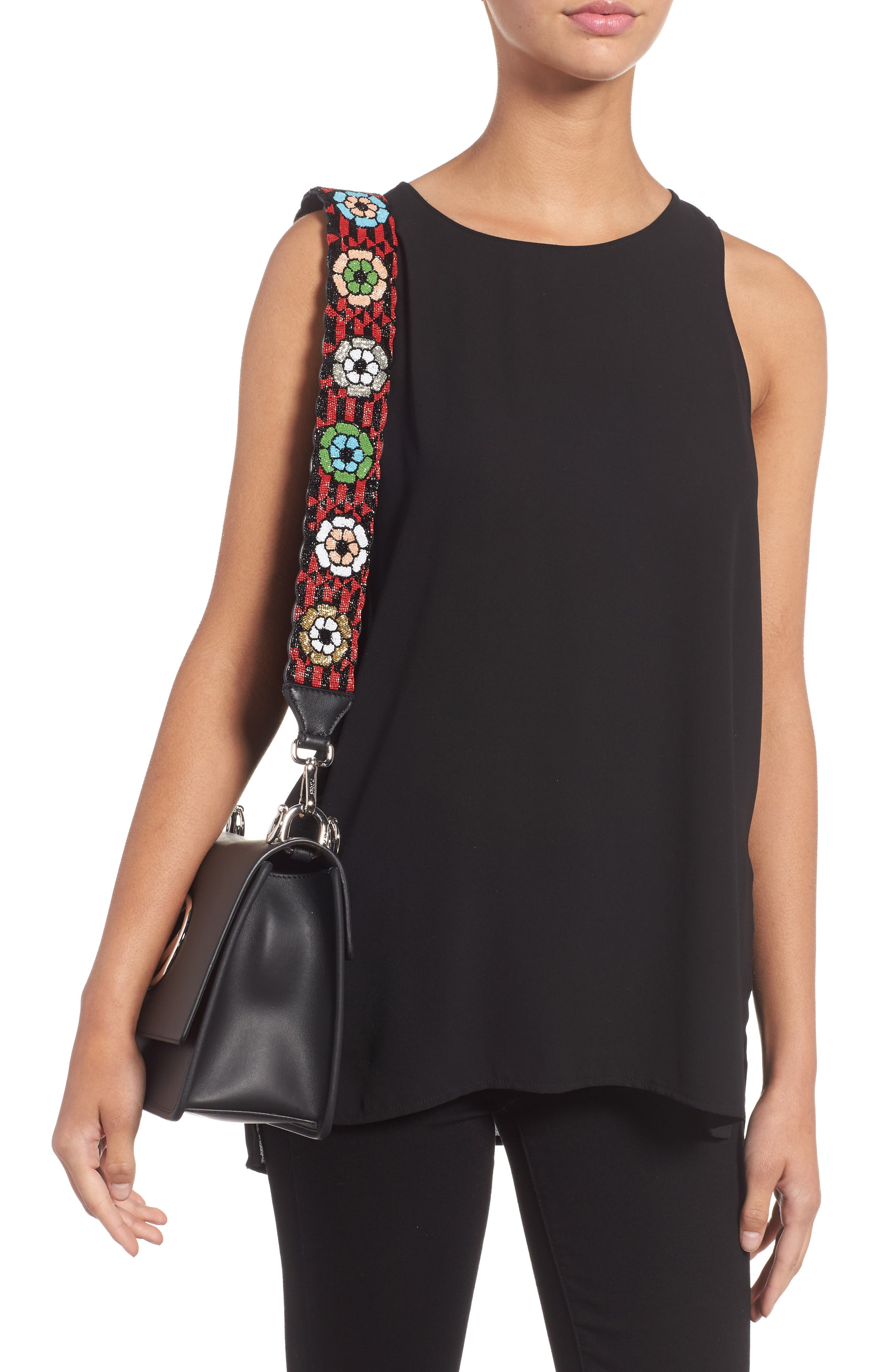 Alternate Image 2  - Fendi Beaded Flower Guitar Bag Strap