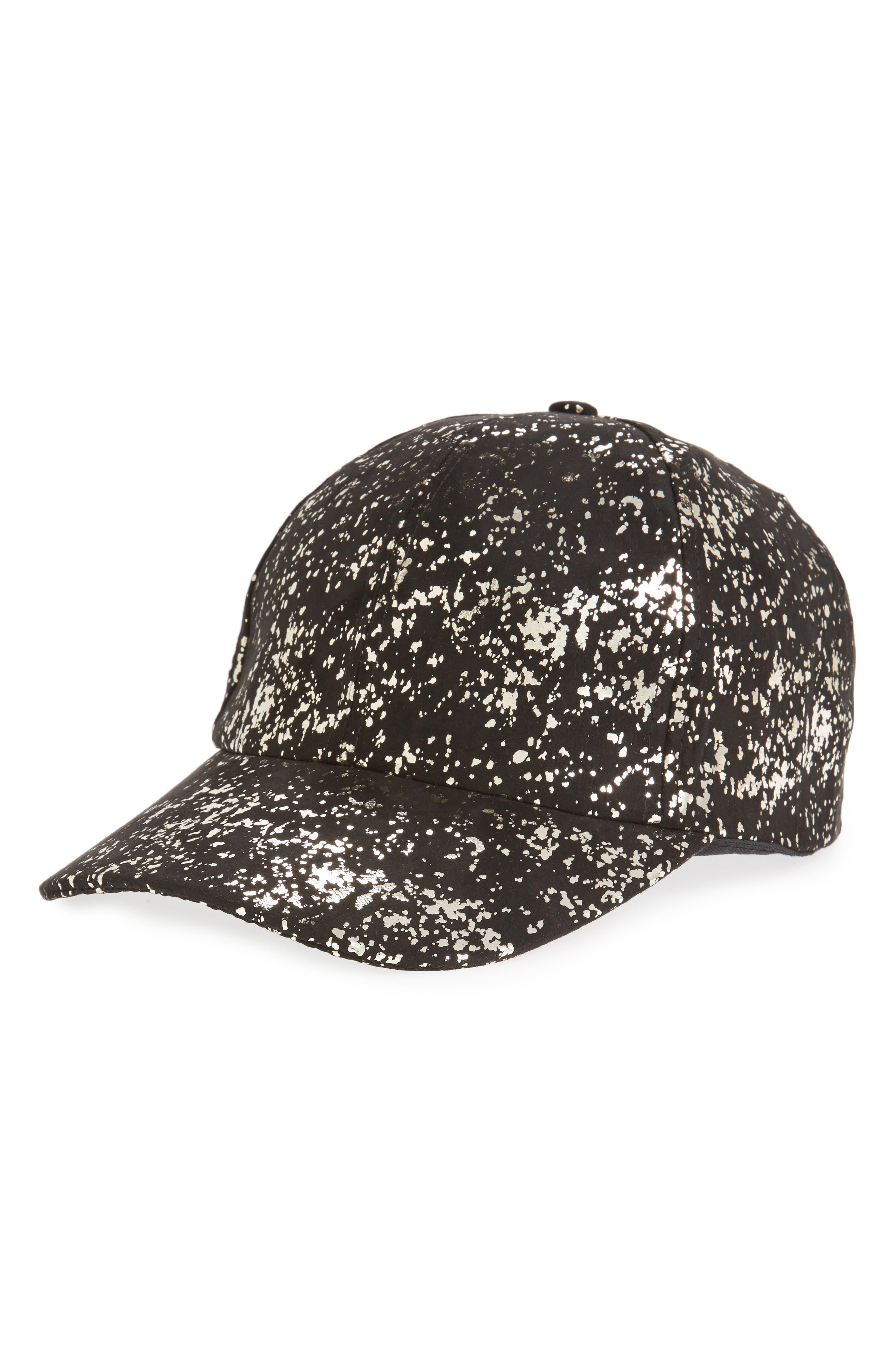 AMICI ACCESSORIES Metallic Foil Ball Cap