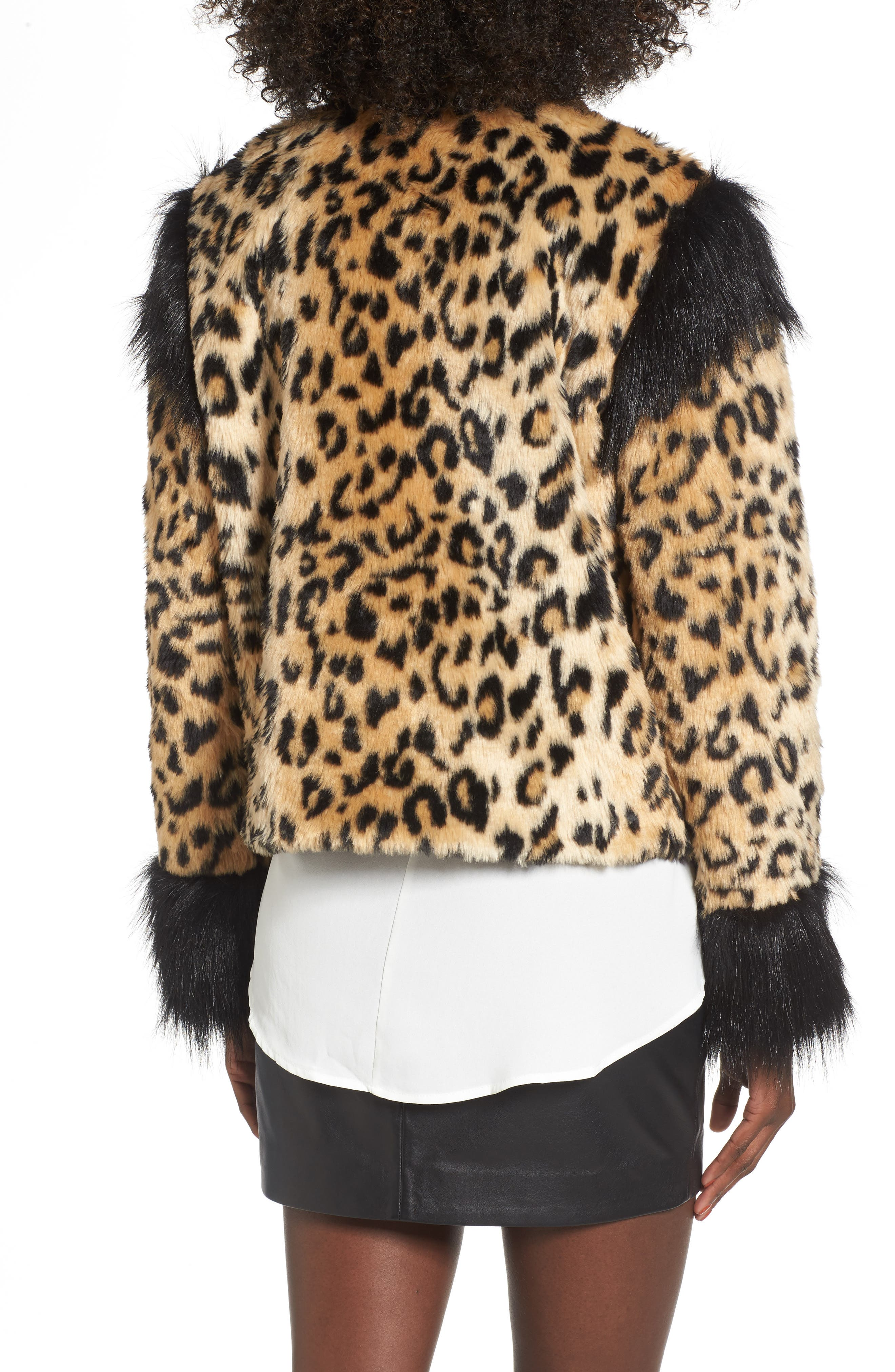 Alternate Image 2  - Leith Mixed Media Faux Fur Jacket