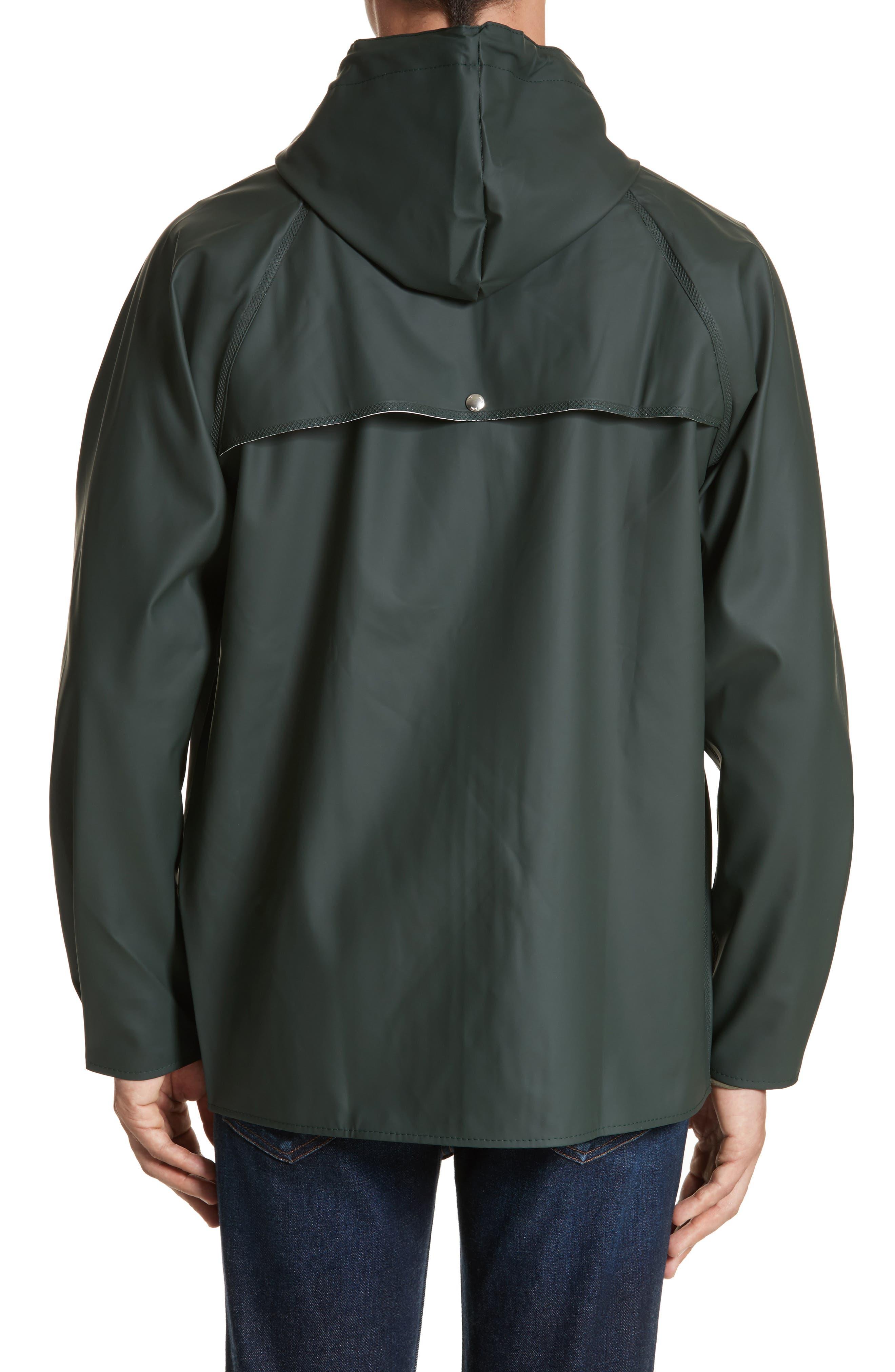 Waterproof Rain Jacket,                             Alternate thumbnail 2, color,                             Moss
