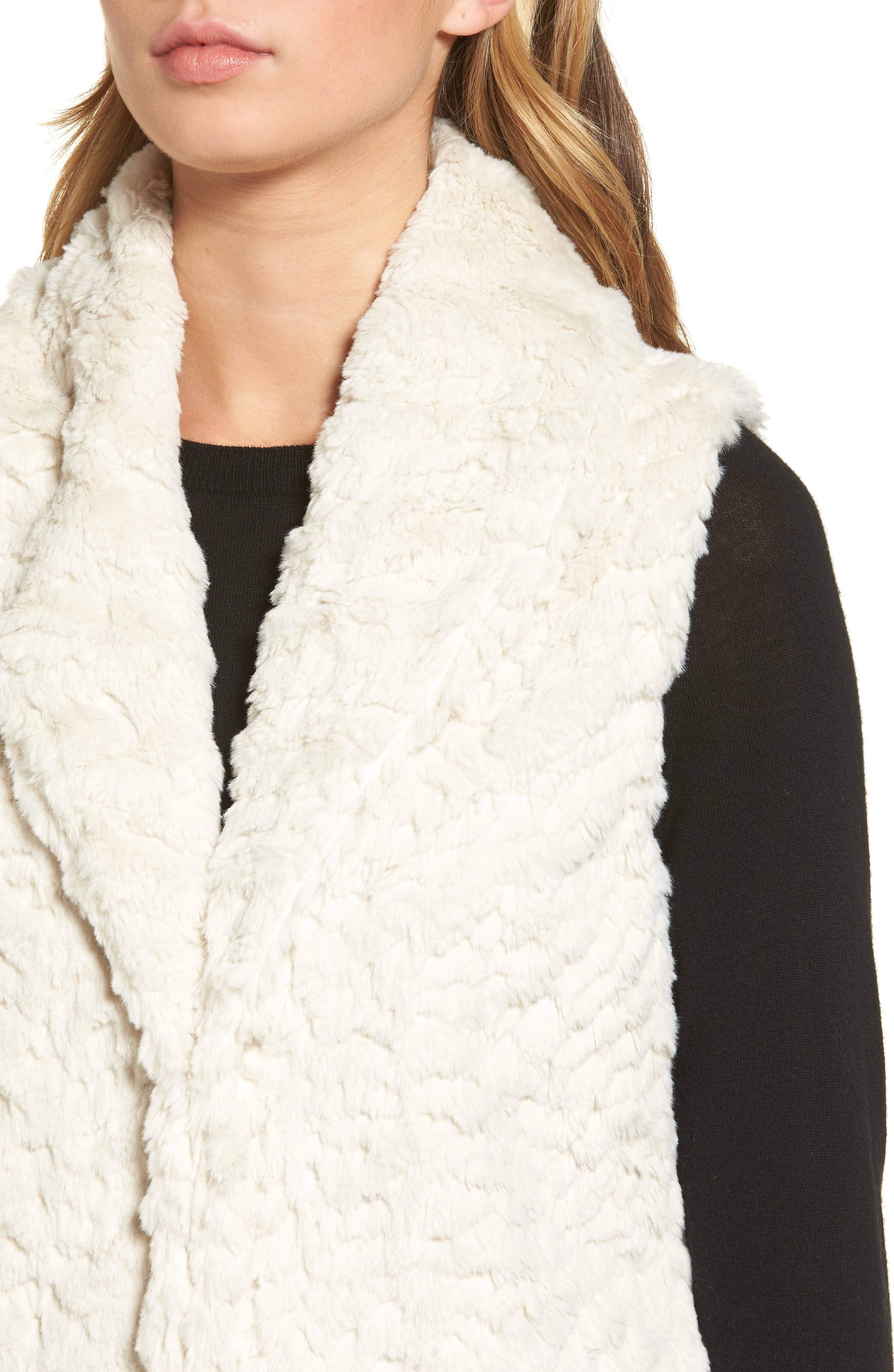 Alternate Image 4  - Dylan Silky Faux Fur Shawl Collar Vest