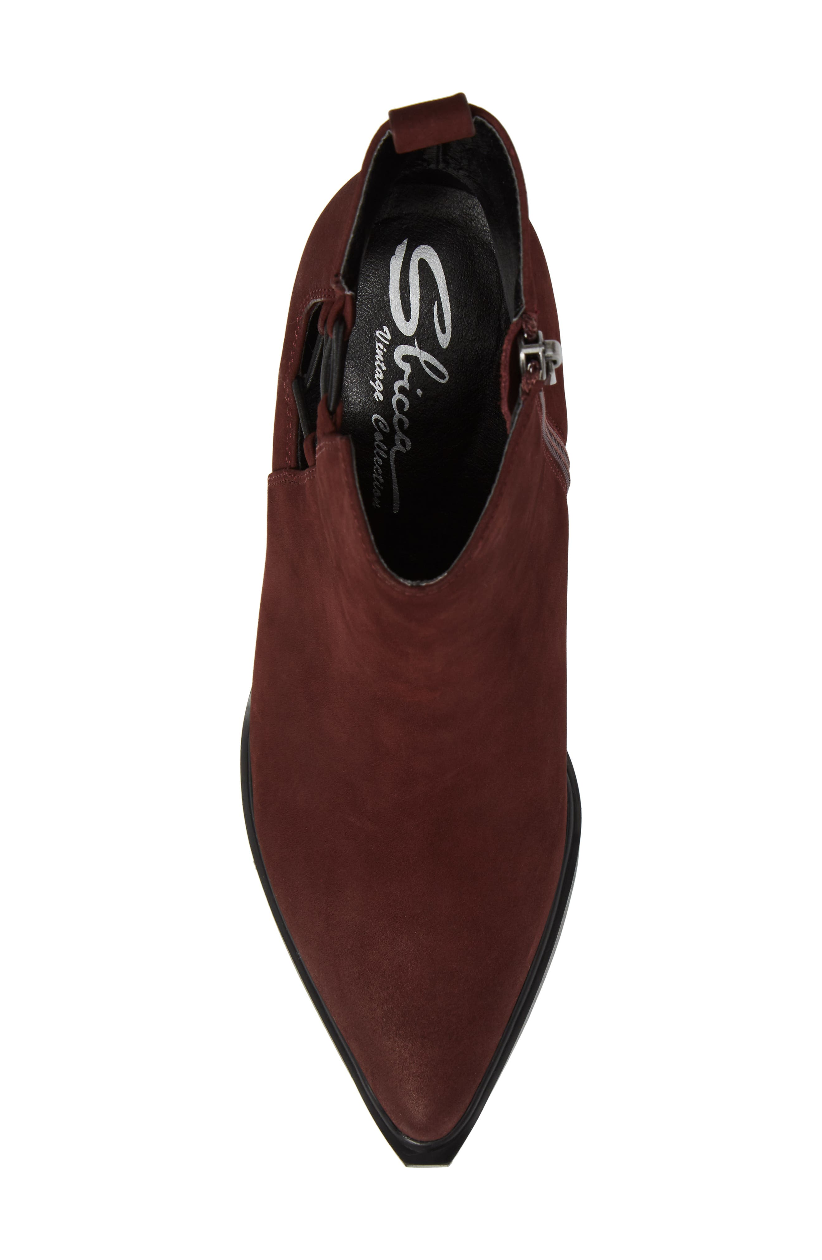 Hackney Corset Bootie,                             Alternate thumbnail 5, color,                             Wine Leather