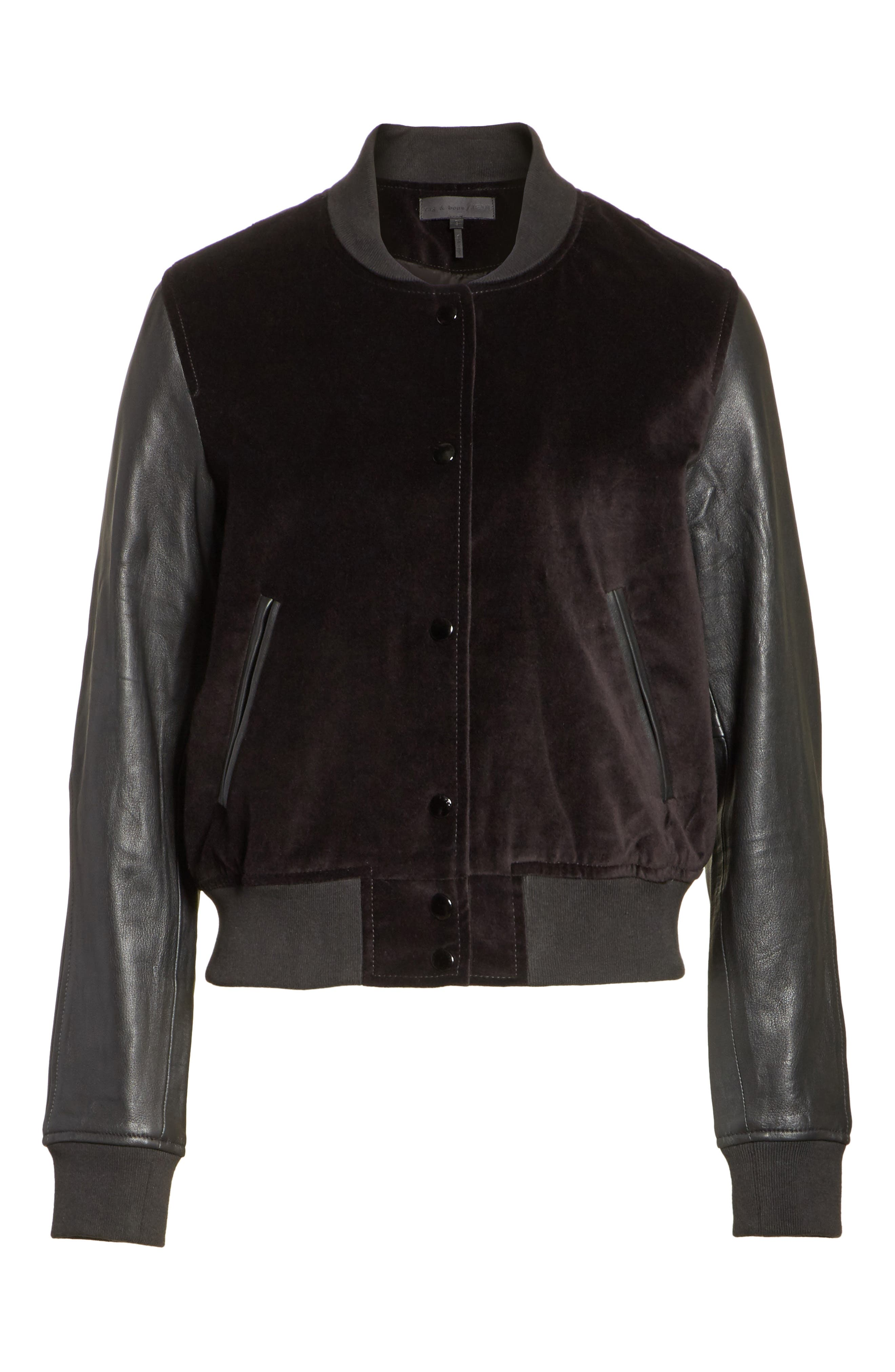 Alternate Image 6  - rag & bone/JEAN Camden Varsity Jacket