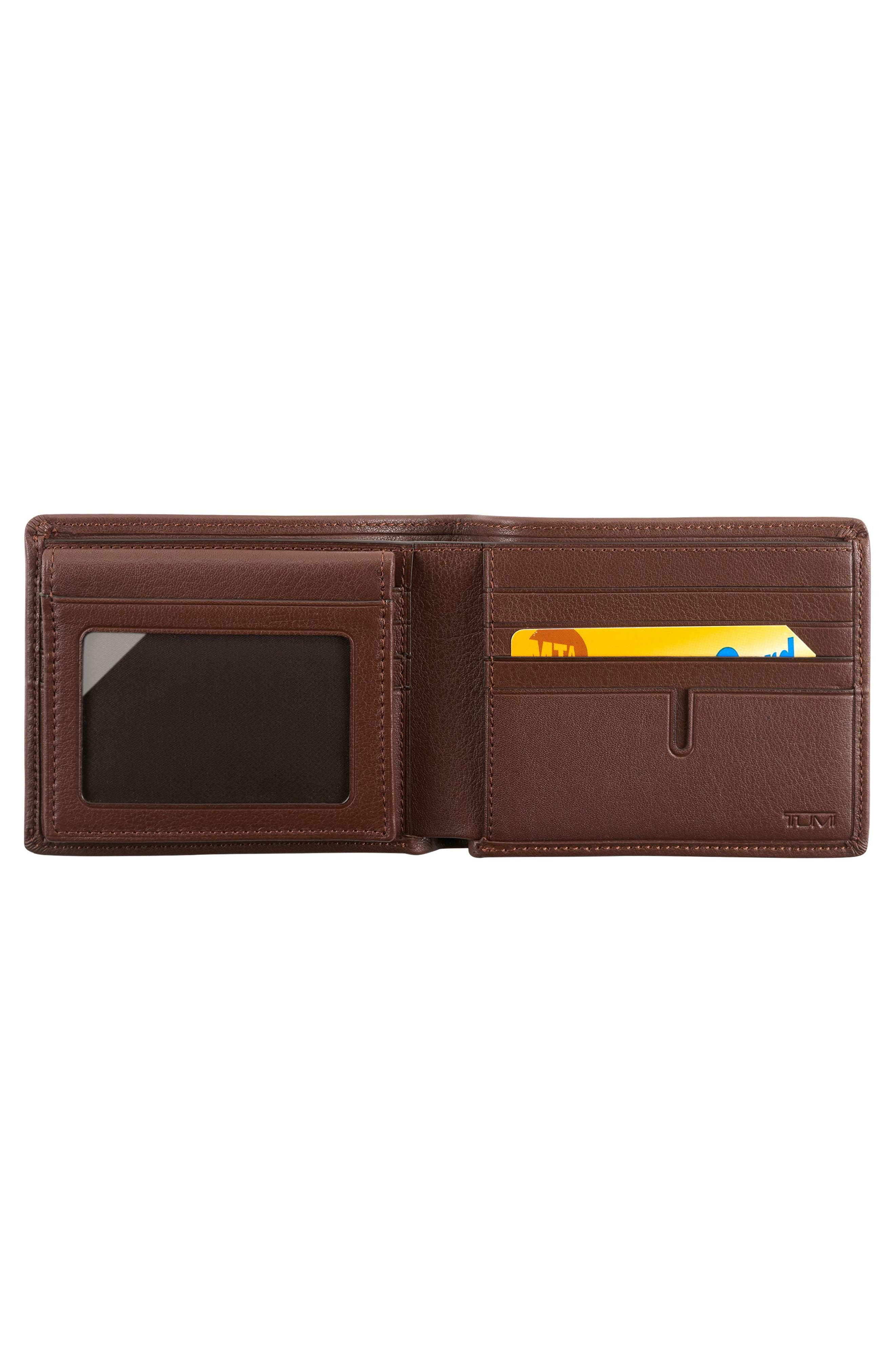 Global Passcase Wallet,                             Alternate thumbnail 2, color,                             Brown Textured
