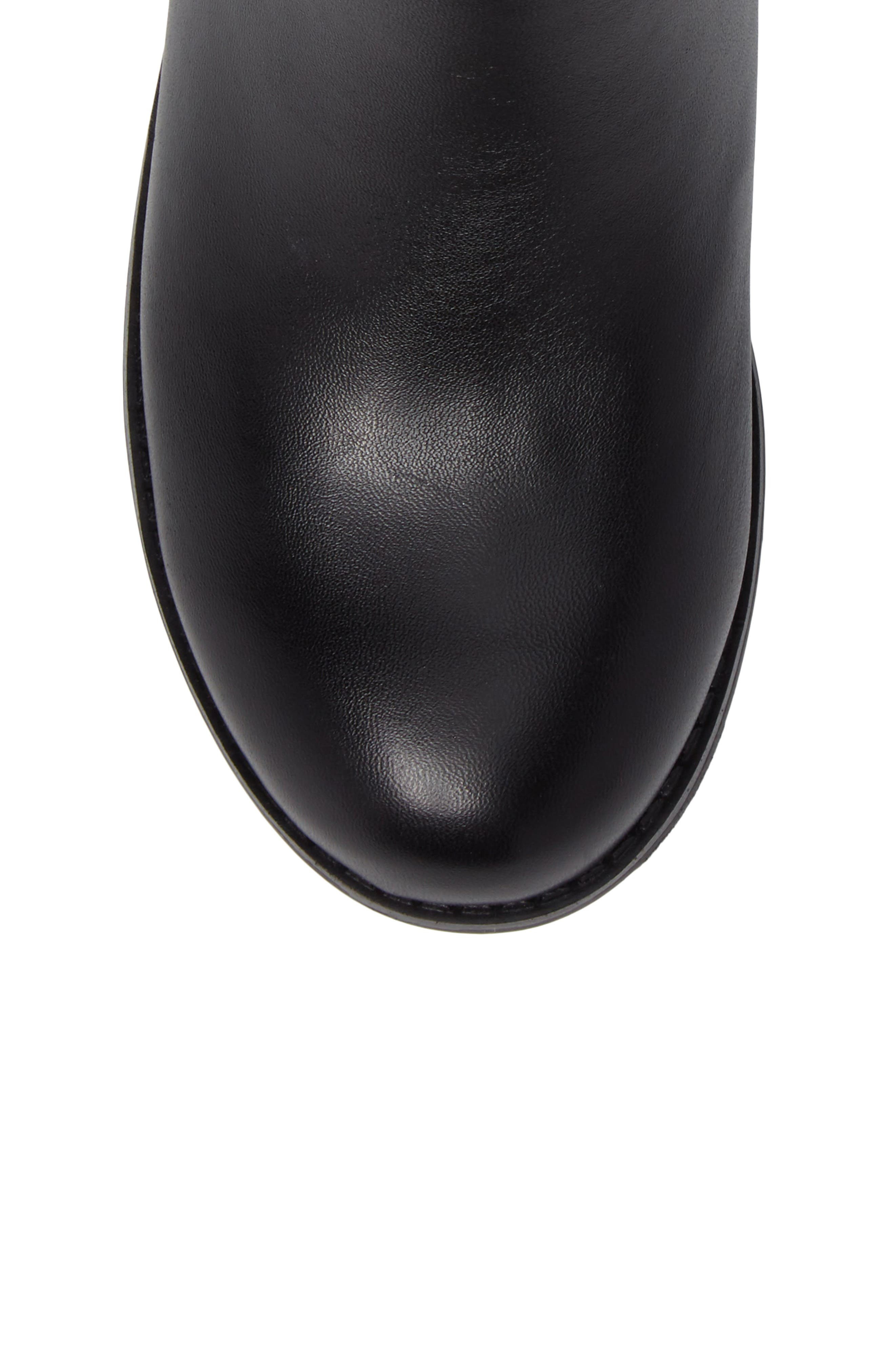 Emma Dede Quilted Bootie,                             Alternate thumbnail 5, color,                             Black
