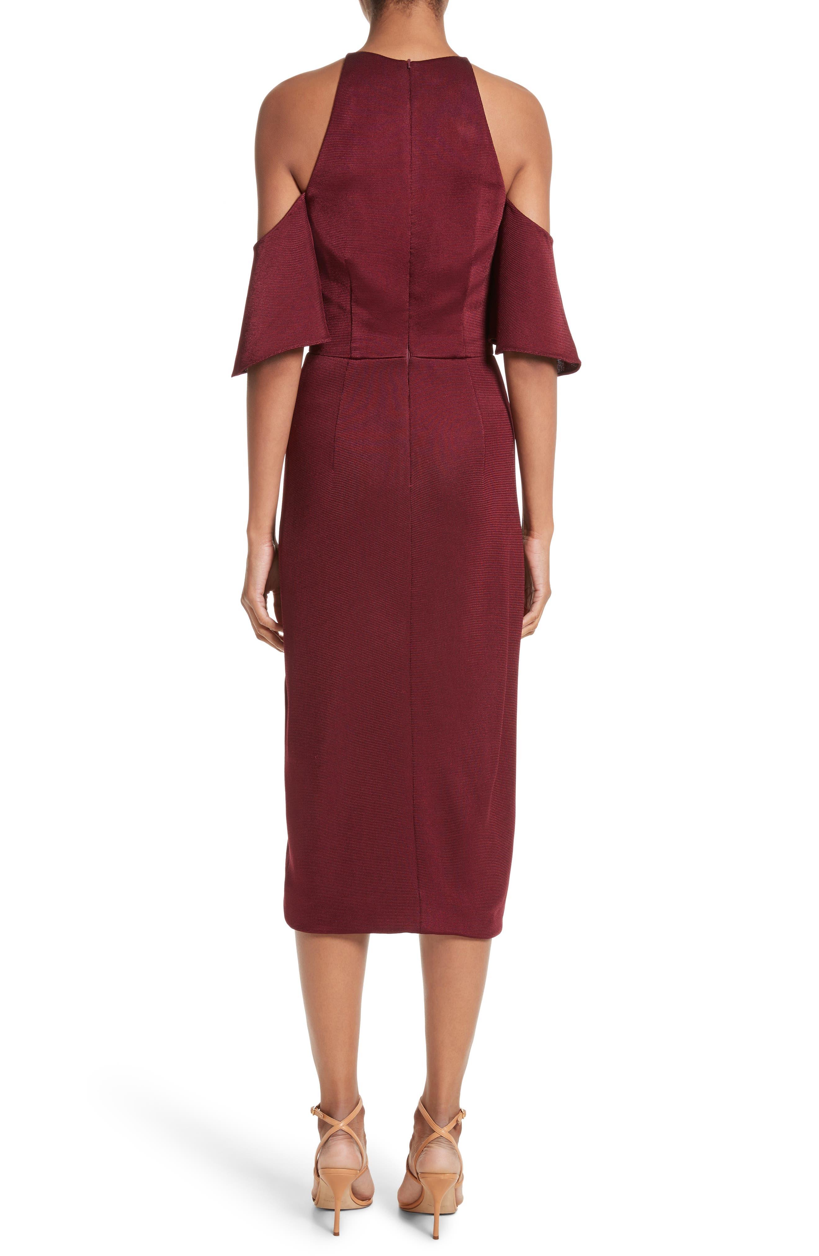 Alternate Image 3  - Cushnie et Ochs Flutter Sleeve Cold Shoulder Pencil Dress