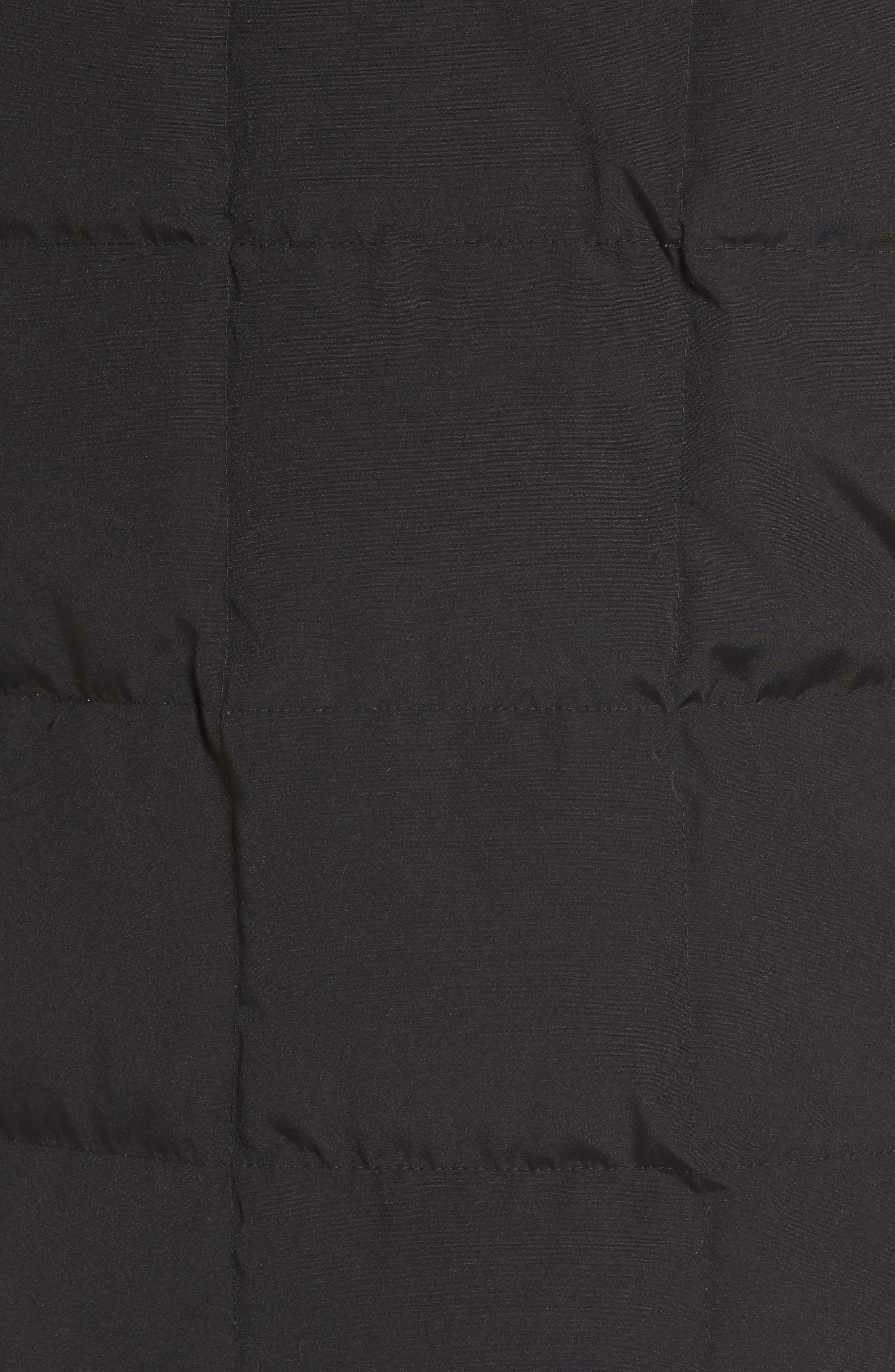 Technical Water Resistant Down Parka,                             Alternate thumbnail 5, color,                             Black