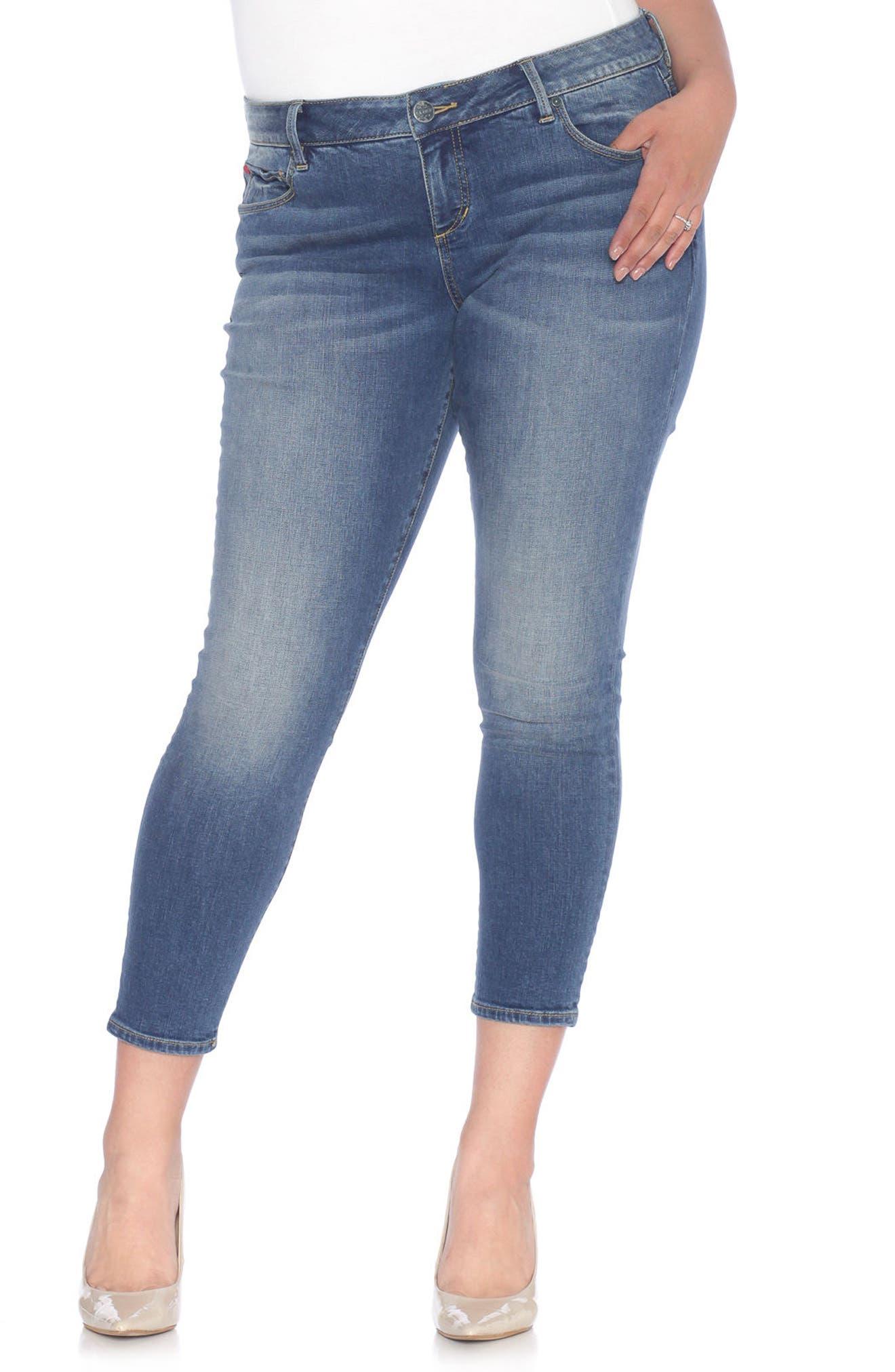 SLINK Jeans Skinny Ankle Jeans (Plus Size)