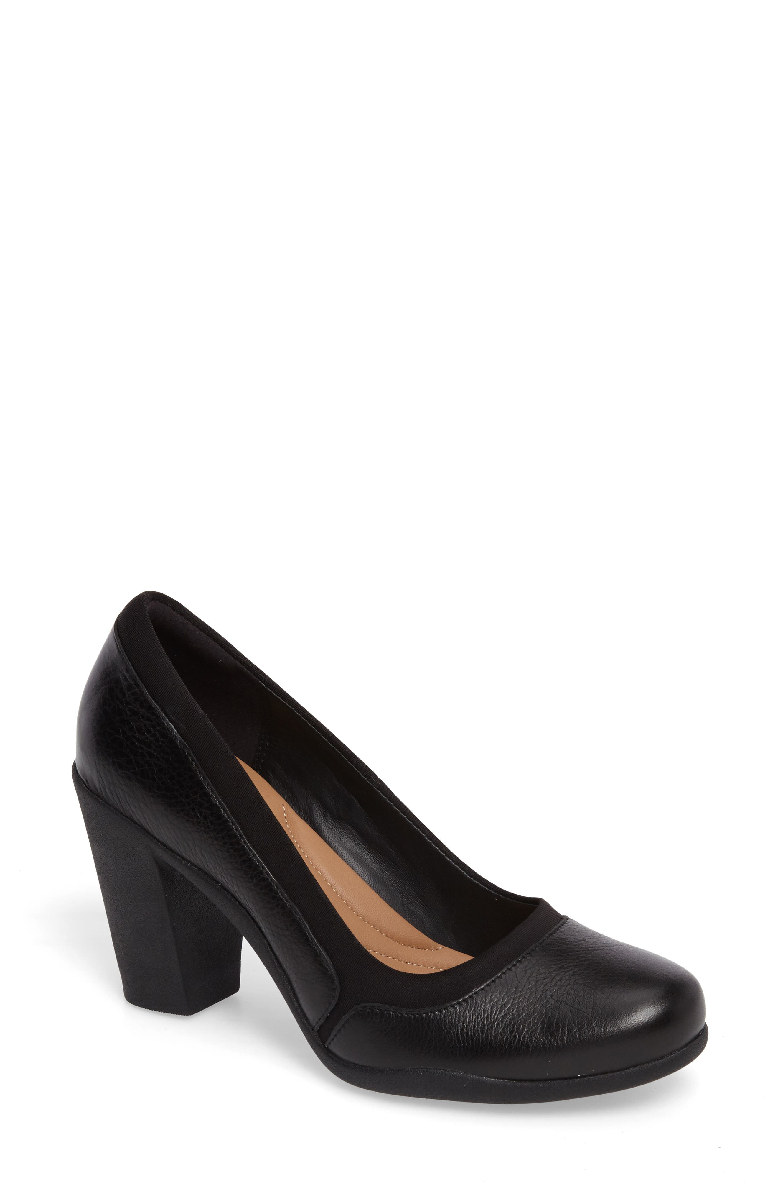 Ayda Maia Pump,                         Main,                         color, Black Leather