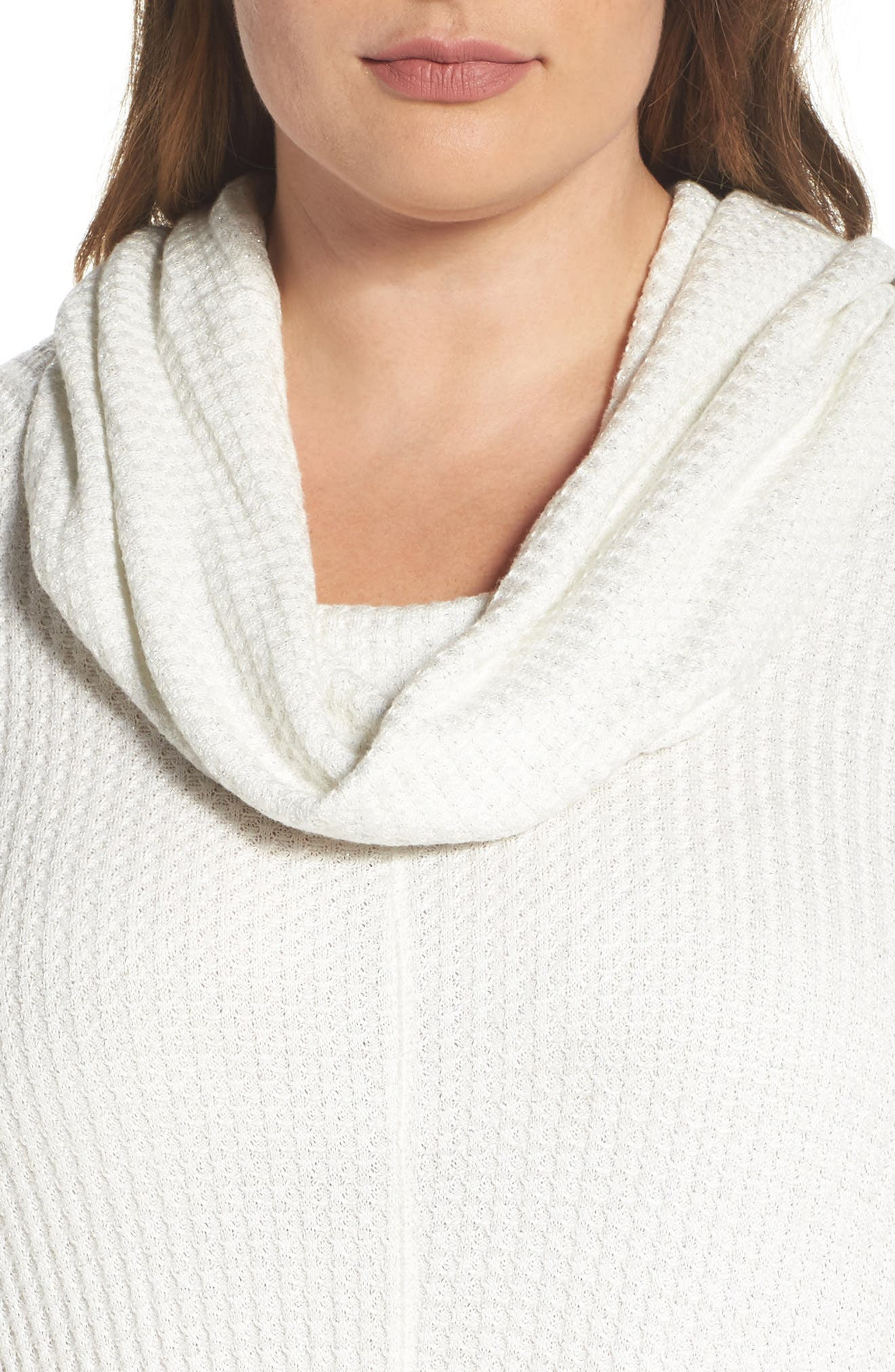 Alternate Image 4  - Lucky Brand Cowl Neck Thermal Top (Plus Size)