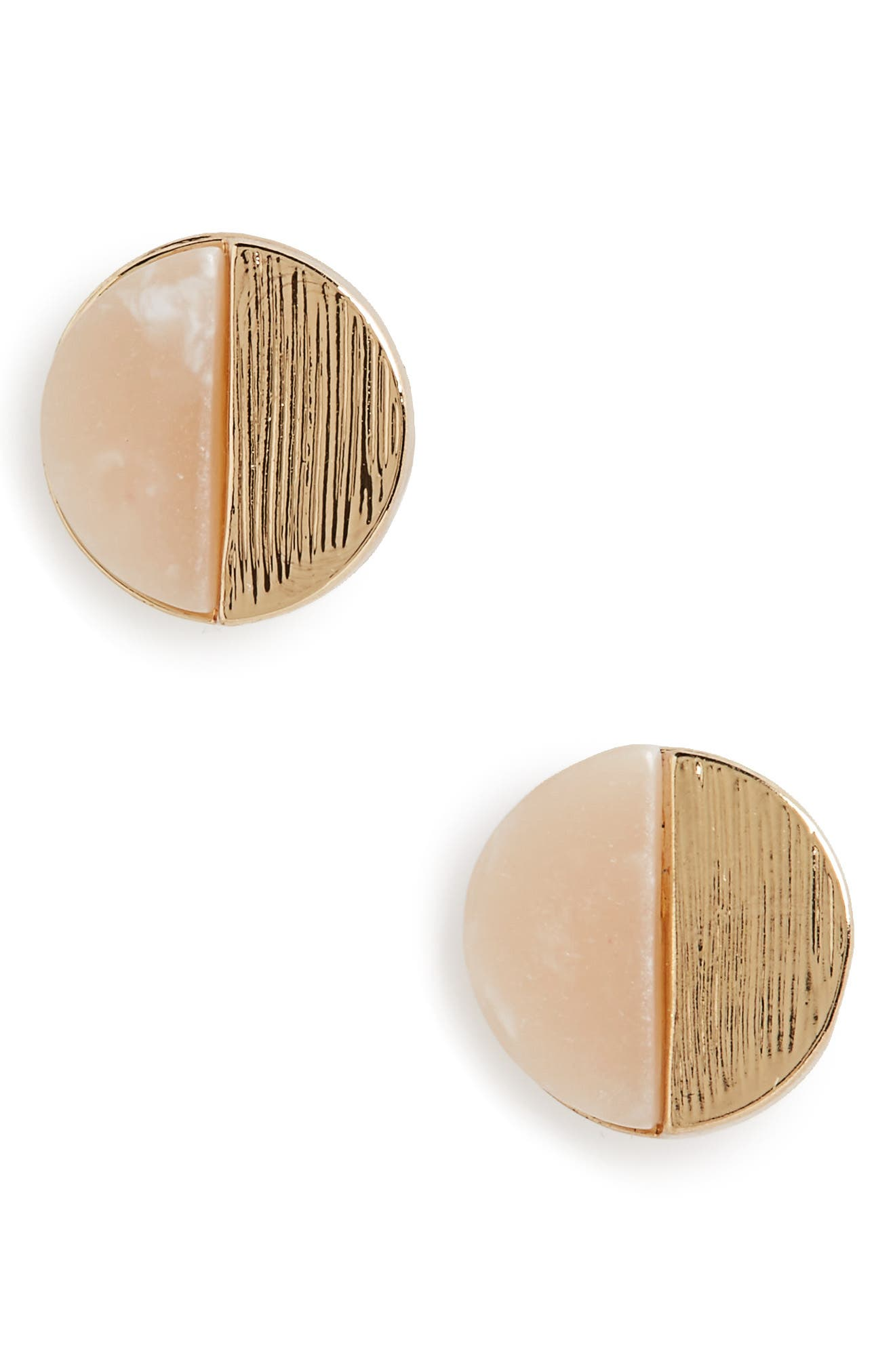 CARA Circle Stud Earrings