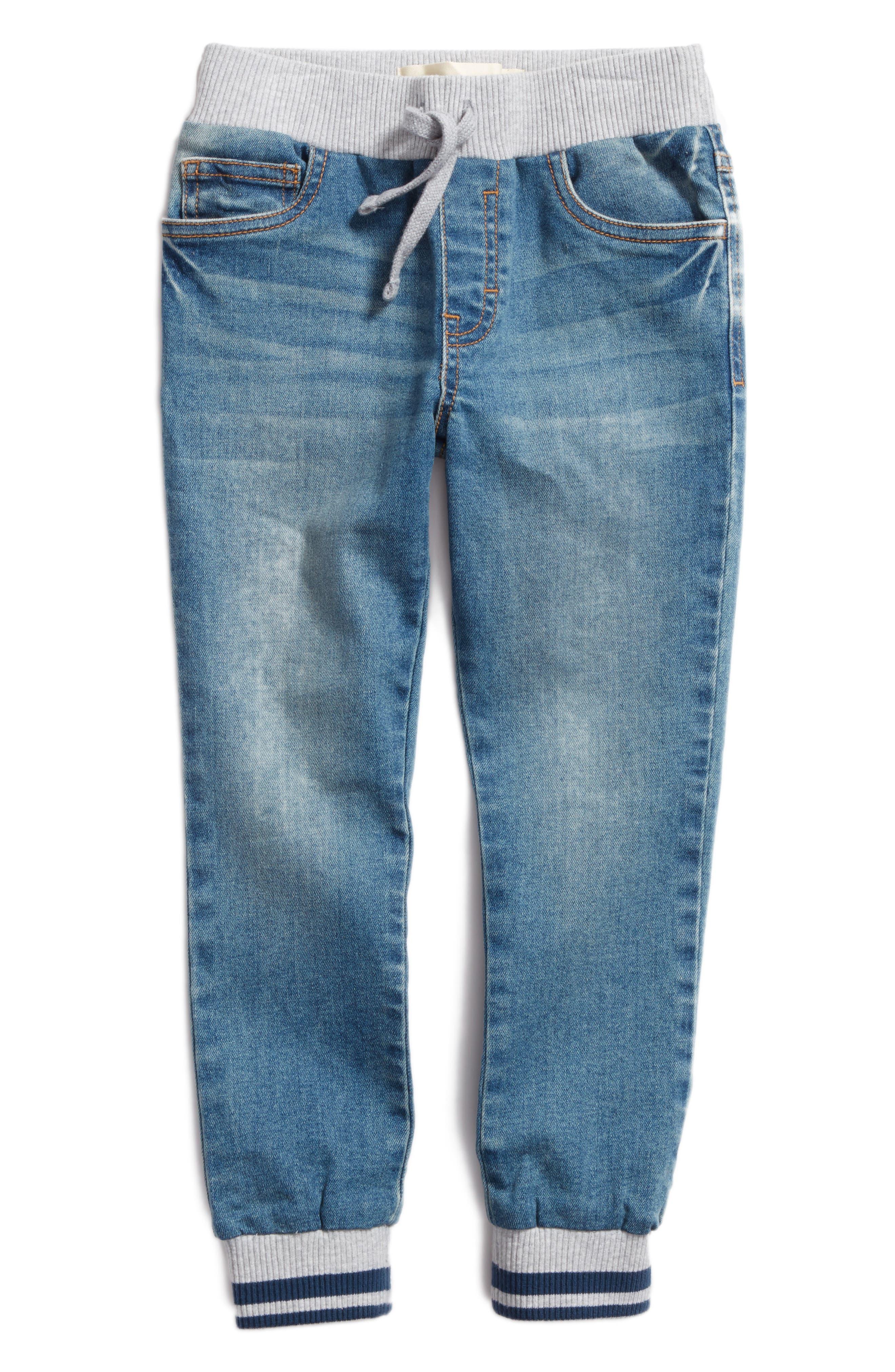 Denim Jogger Pants,                         Main,                         color, Gallatin Wash