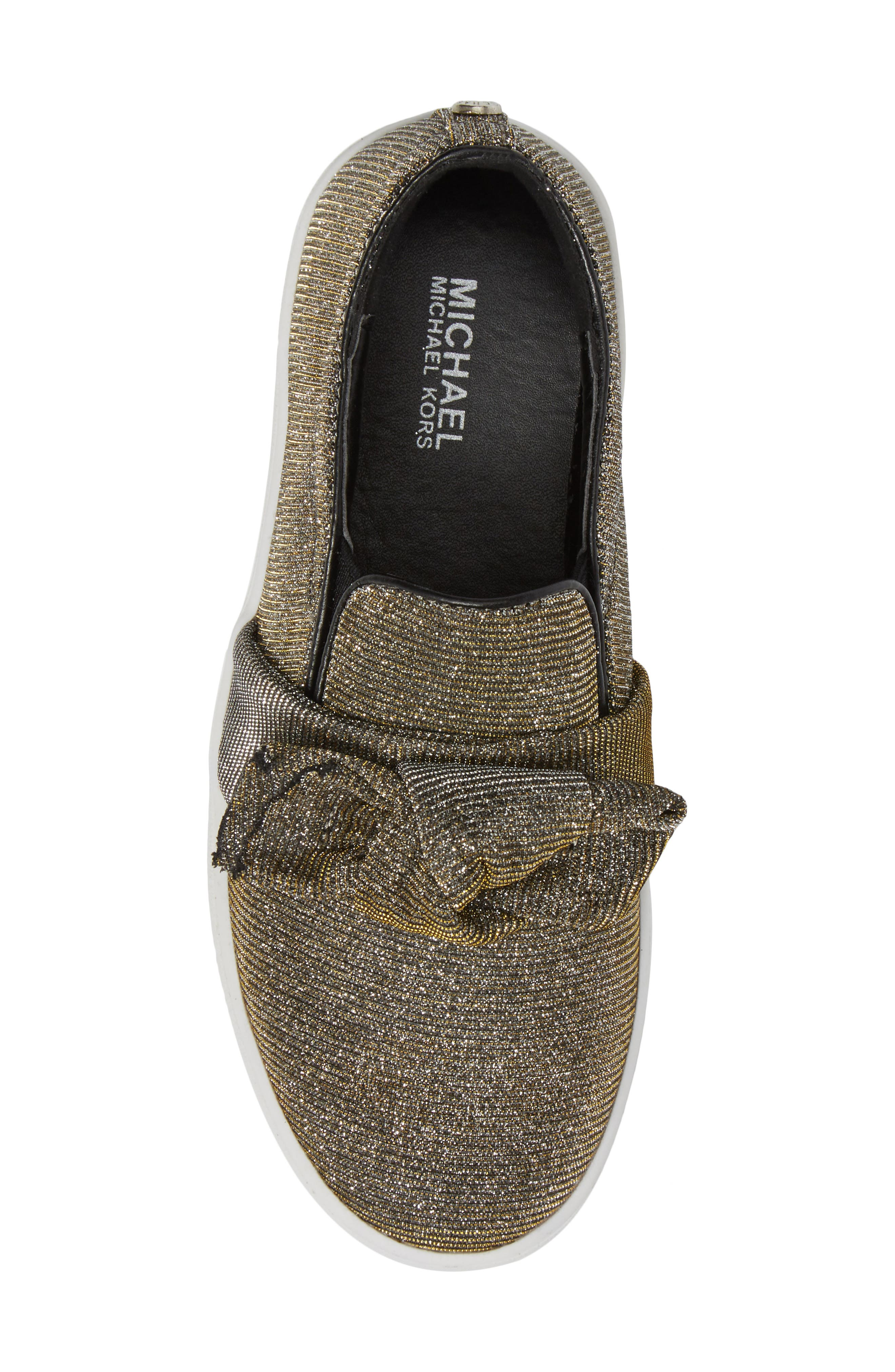 Alternate Image 5  - MICHAEL Michael Kors Maven Poppy Knotted Slip-On Sneaker (Walker, Toddler, Little Kid & Big Kid)