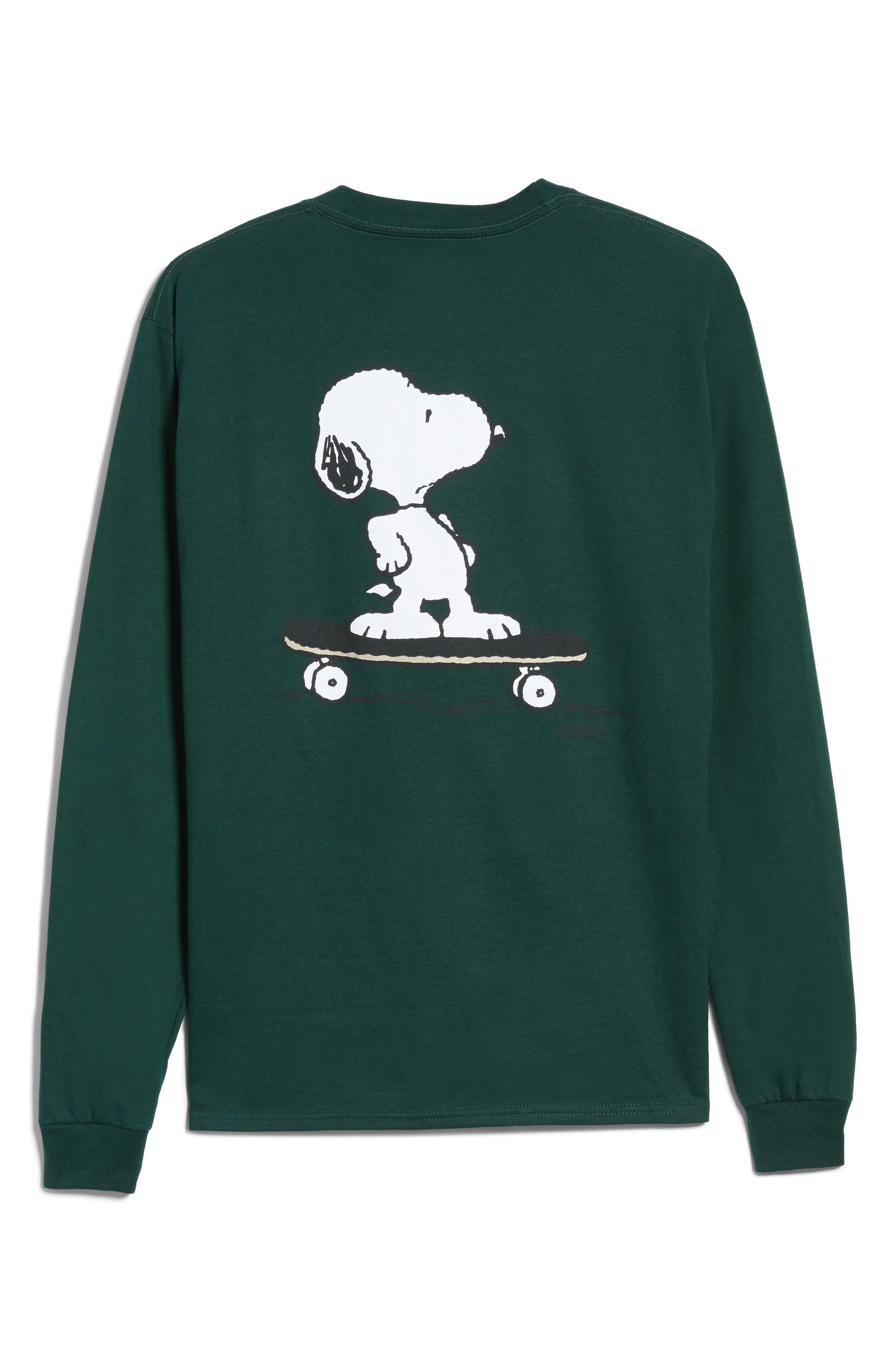 Main Image - Peanuts Snoopy Skate Long Sleeve T-Shirt