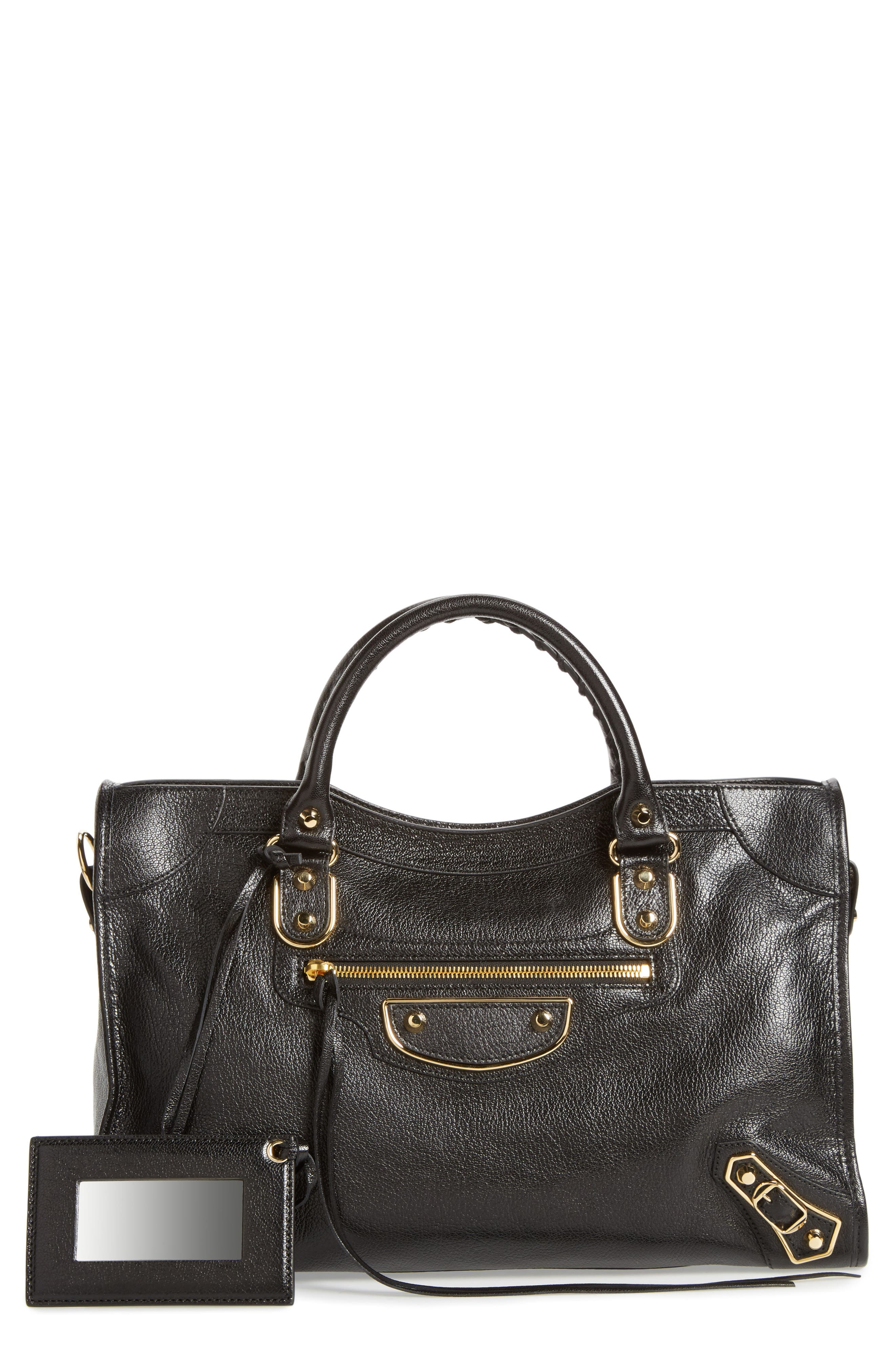BALENCIAGA PARIS Balenciaga Classic Metallic Edge City Leather Tote