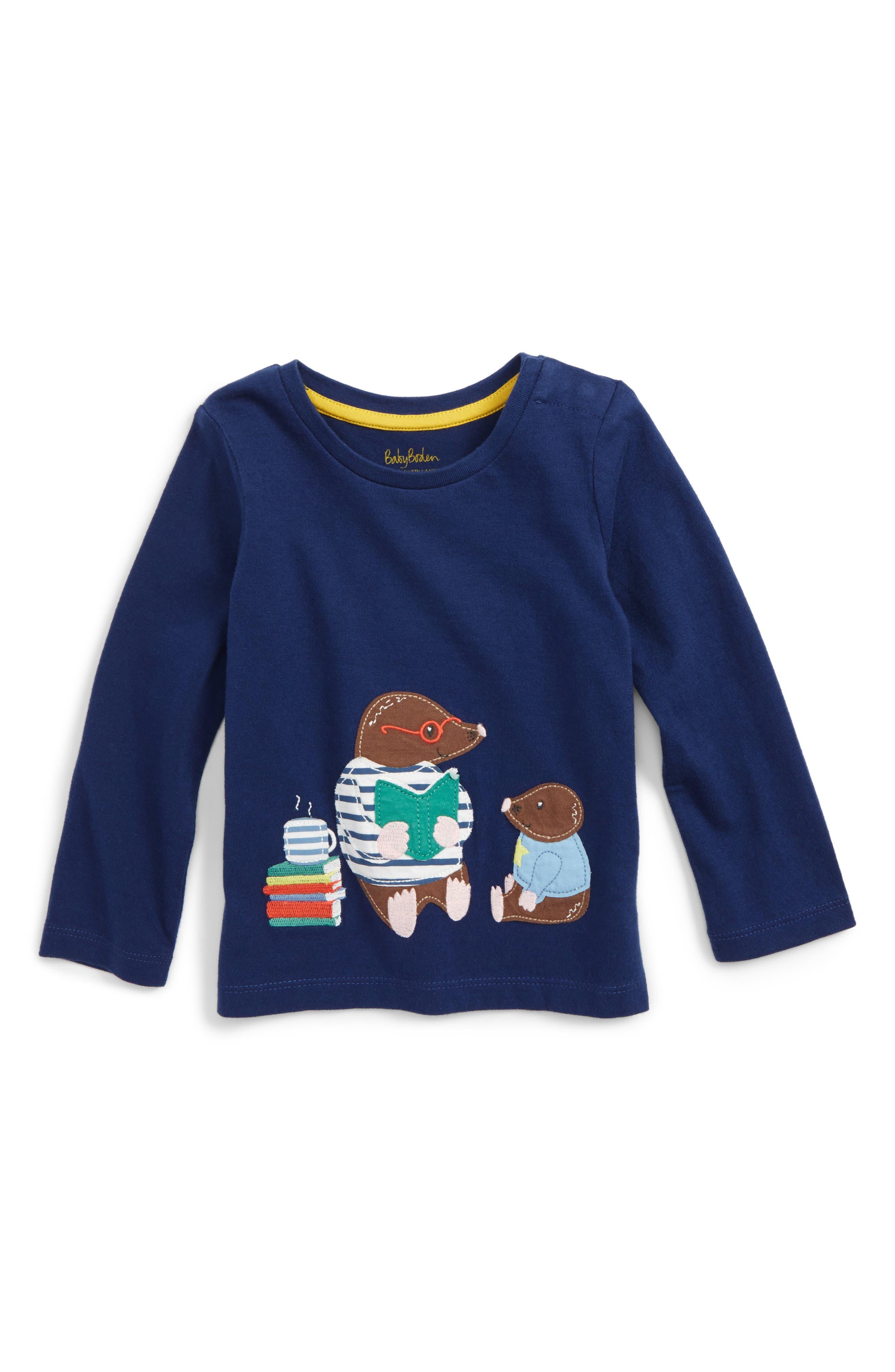 Mini Boden Big Appliqué T-Shirt (Baby Boys & Toddler Boys)