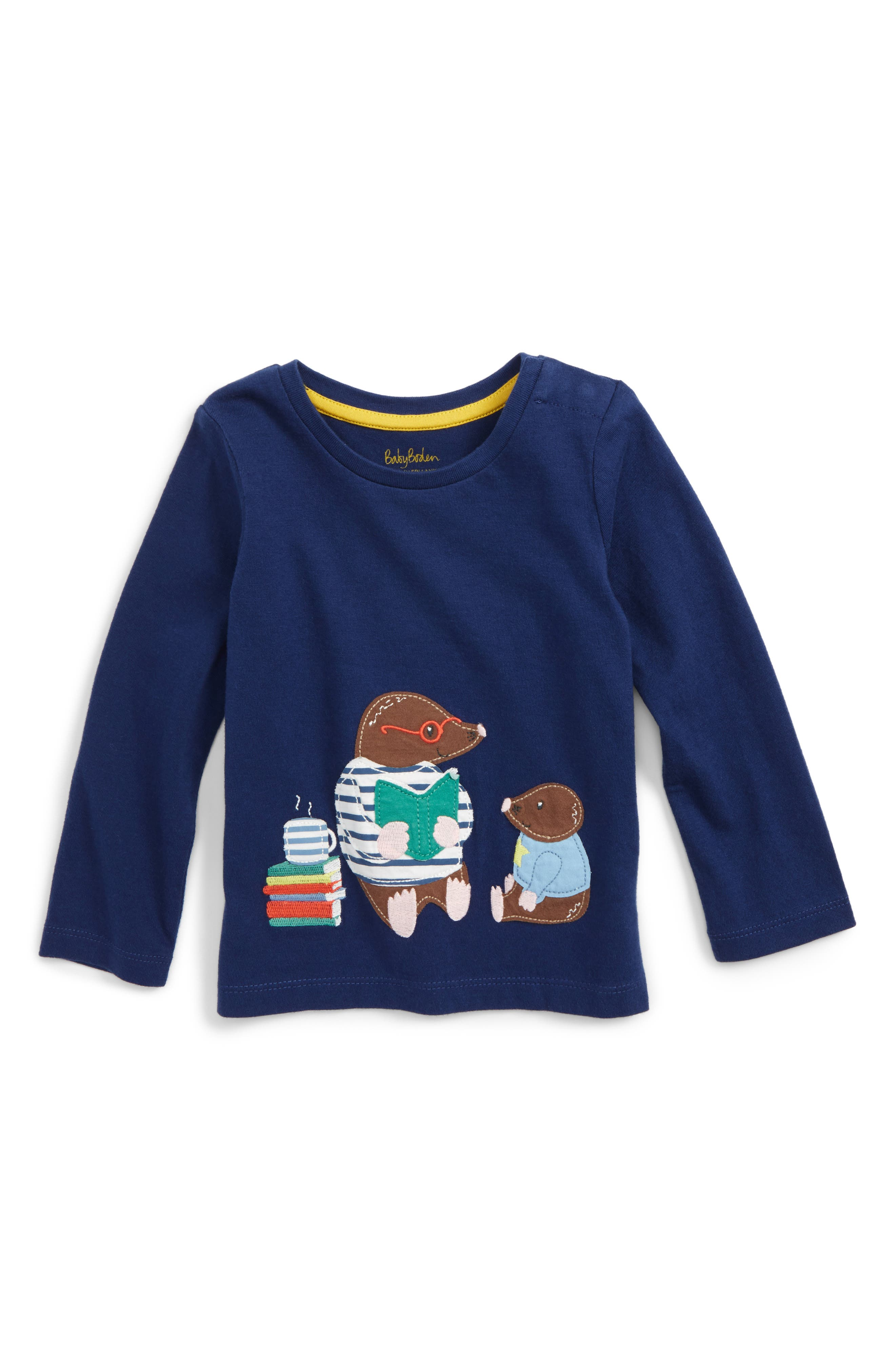 Big Appliqué T-Shirt,                         Main,                         color, Blue Beacon Moles
