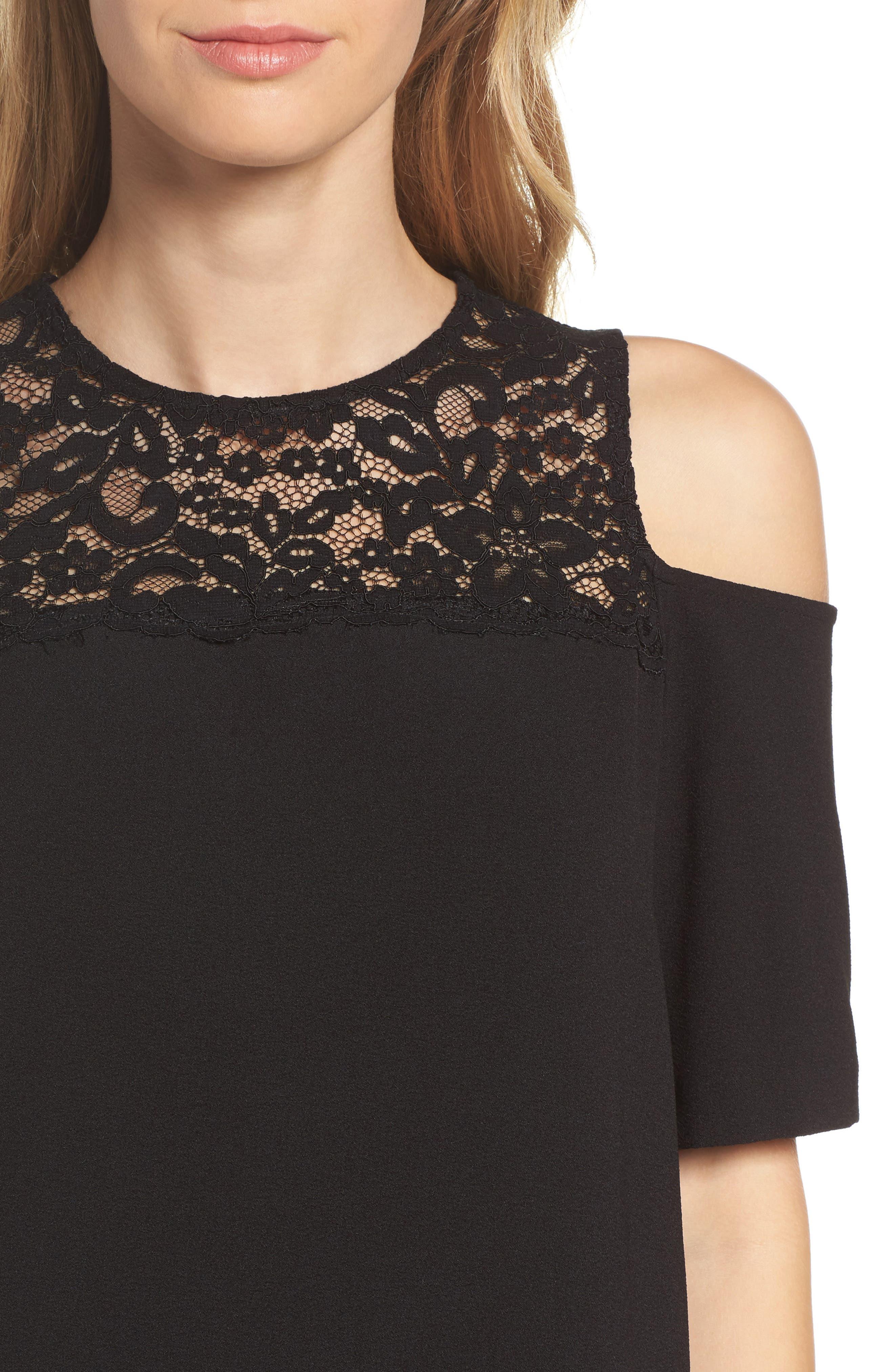 Alternate Image 4  - Felicity & Coco Jess Cold Shoulder Lace Dress