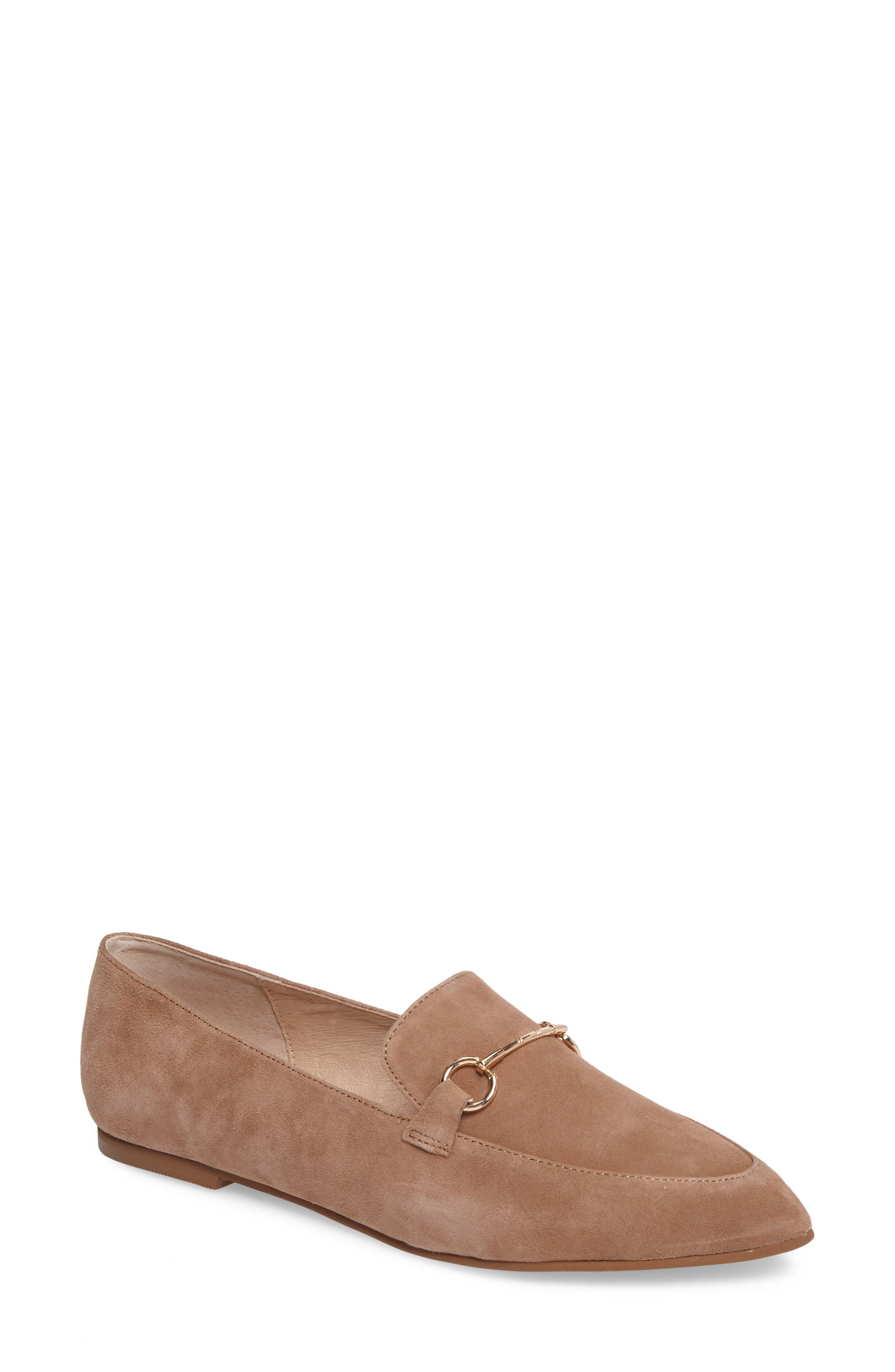 Cambrie Loafer Flat,                             Main thumbnail 1, color,                             Clay Suede